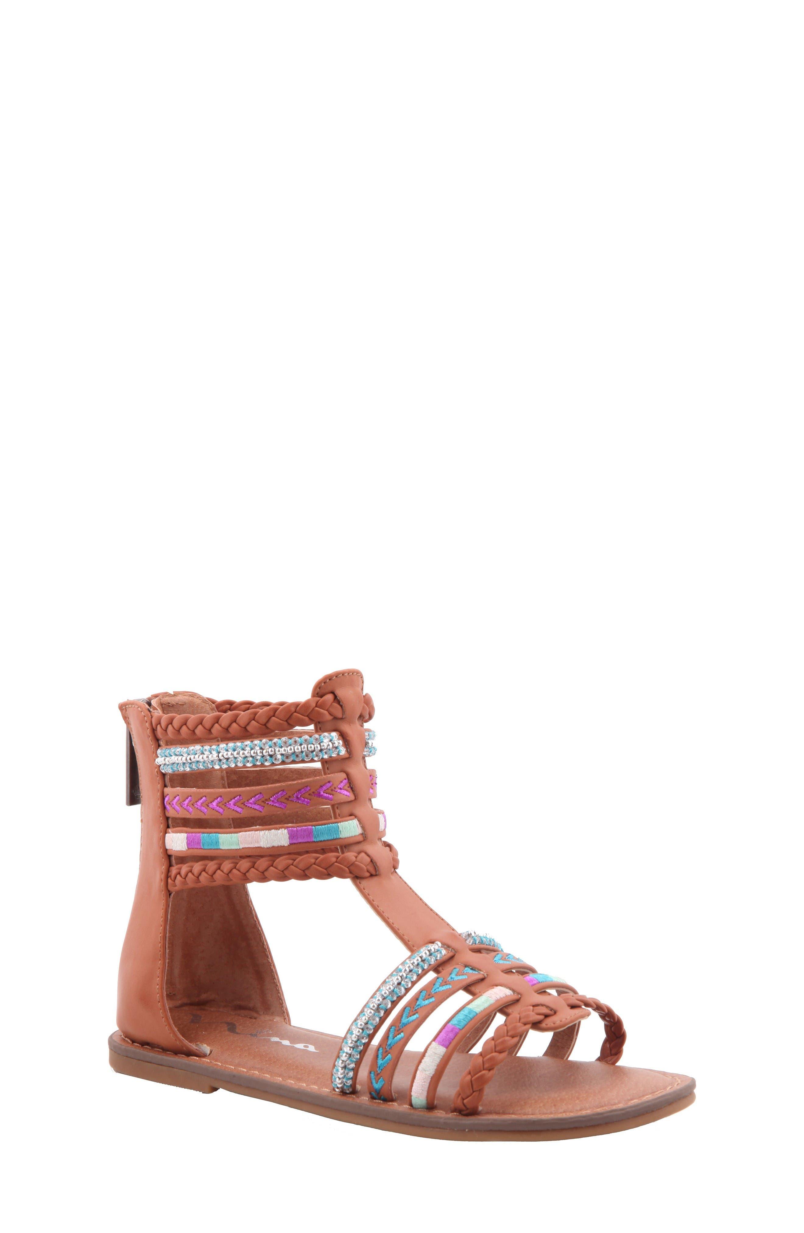 Nina Cayenne Embellished Gladiator Sandal (Toddler, Little Kid & Big Kid)
