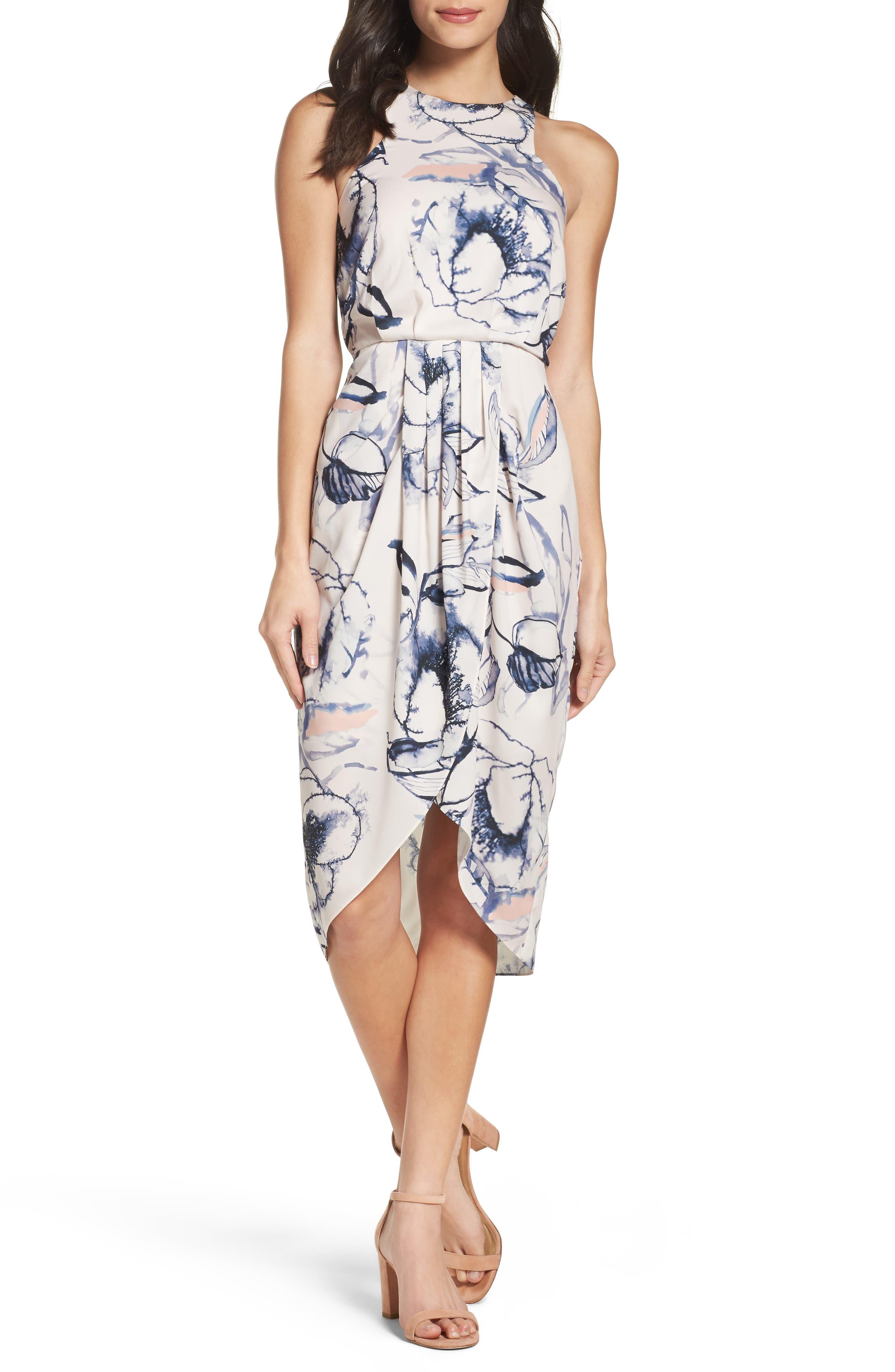 Main Image - Chelsea28 Print Midi Dress