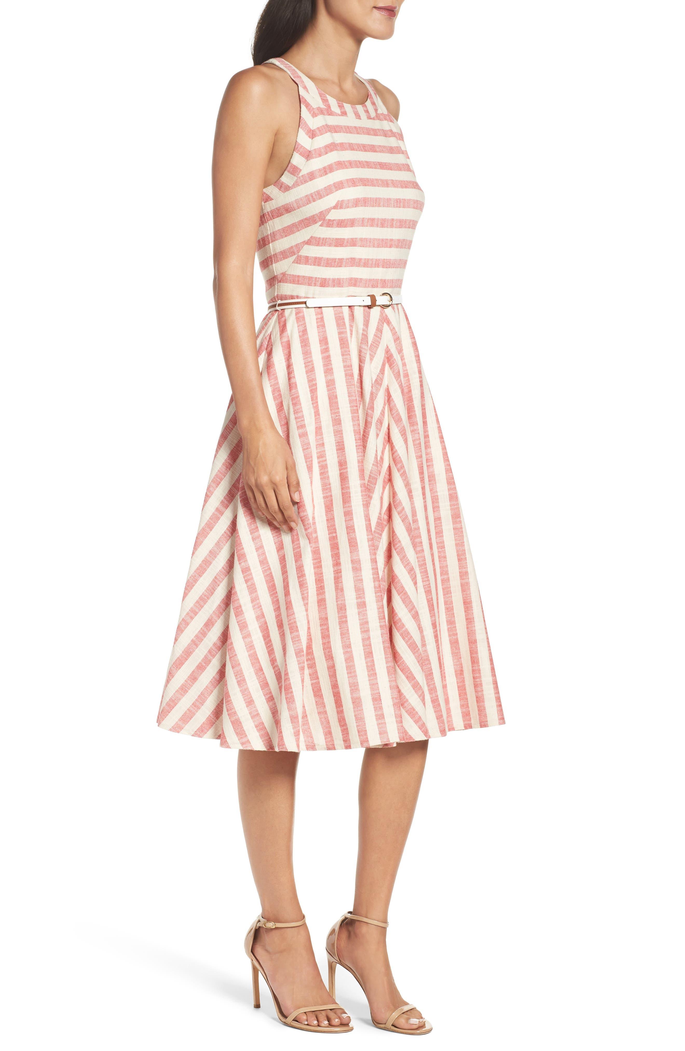 Alternate Image 3  - Eliza J Stripe Fit & Flare Midi Dress