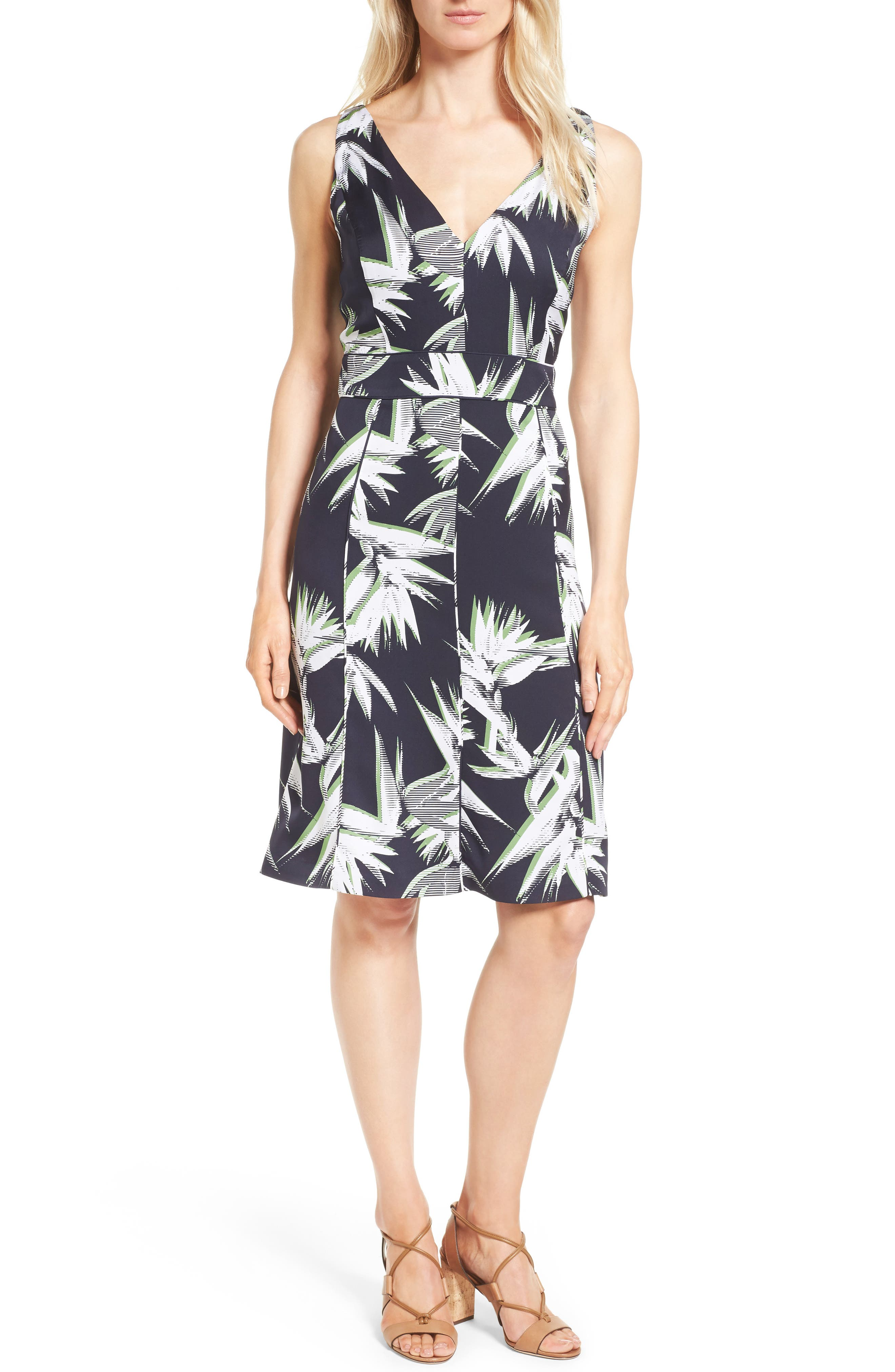 Classiques Entier® Paradise Print Stretch Silk Dress