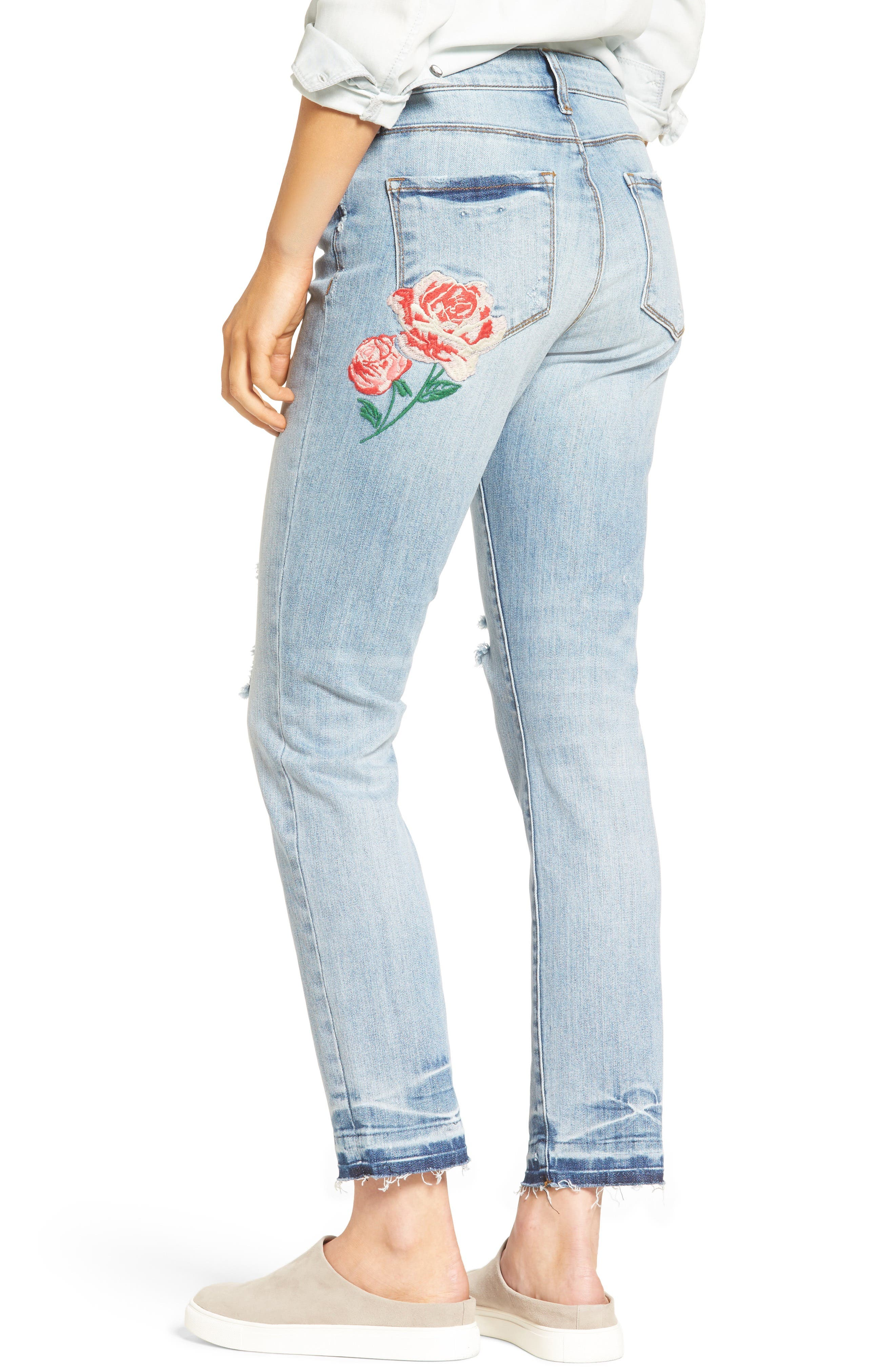 Alternate Image 3  - KUT from the Kloth Embroidered Straight Leg Jeans (Excellency) (Regular & Petite)