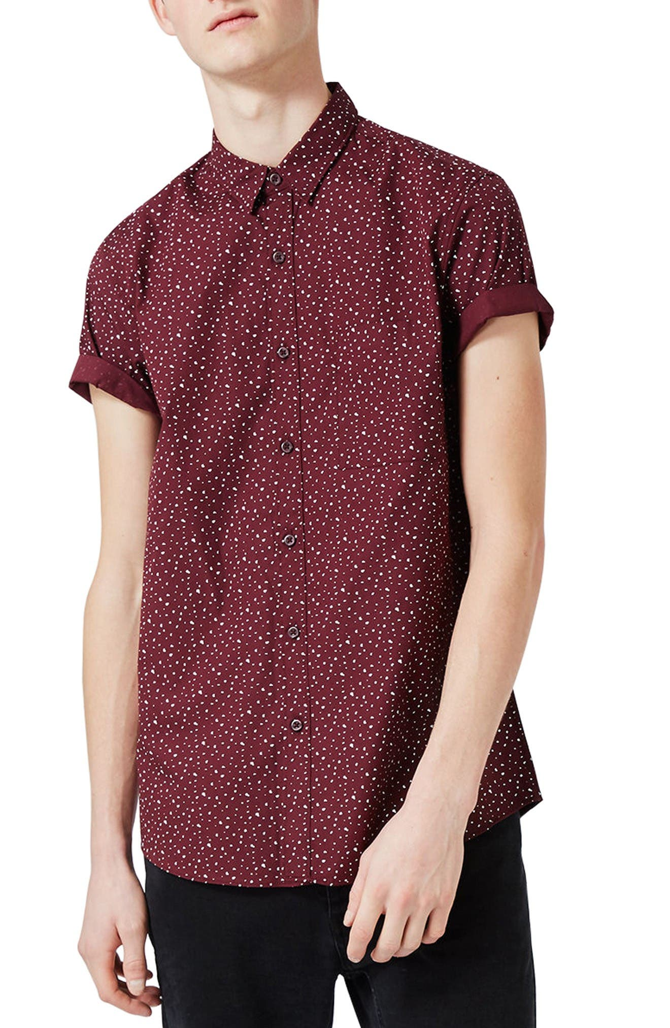 Topman Splotch Print Shirt