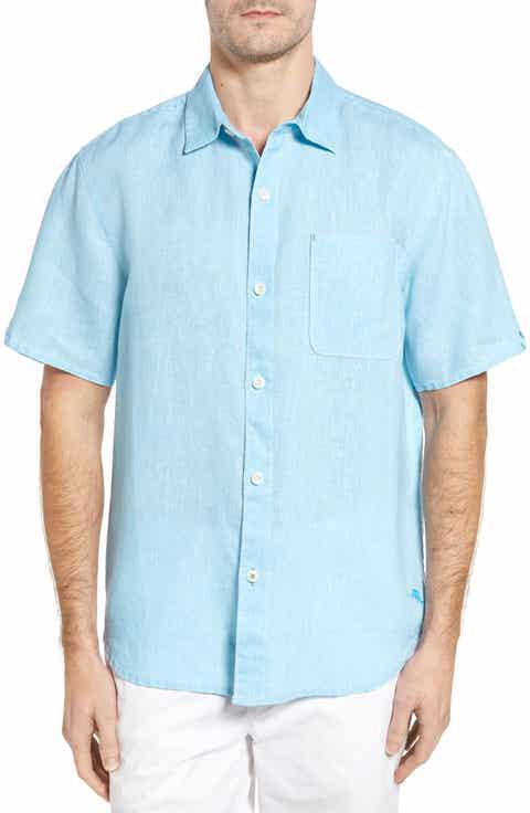 Tommy Bahama 'Seaglass Breezer' Short Sleeve Linen Sport Shirt (Big   Tall)