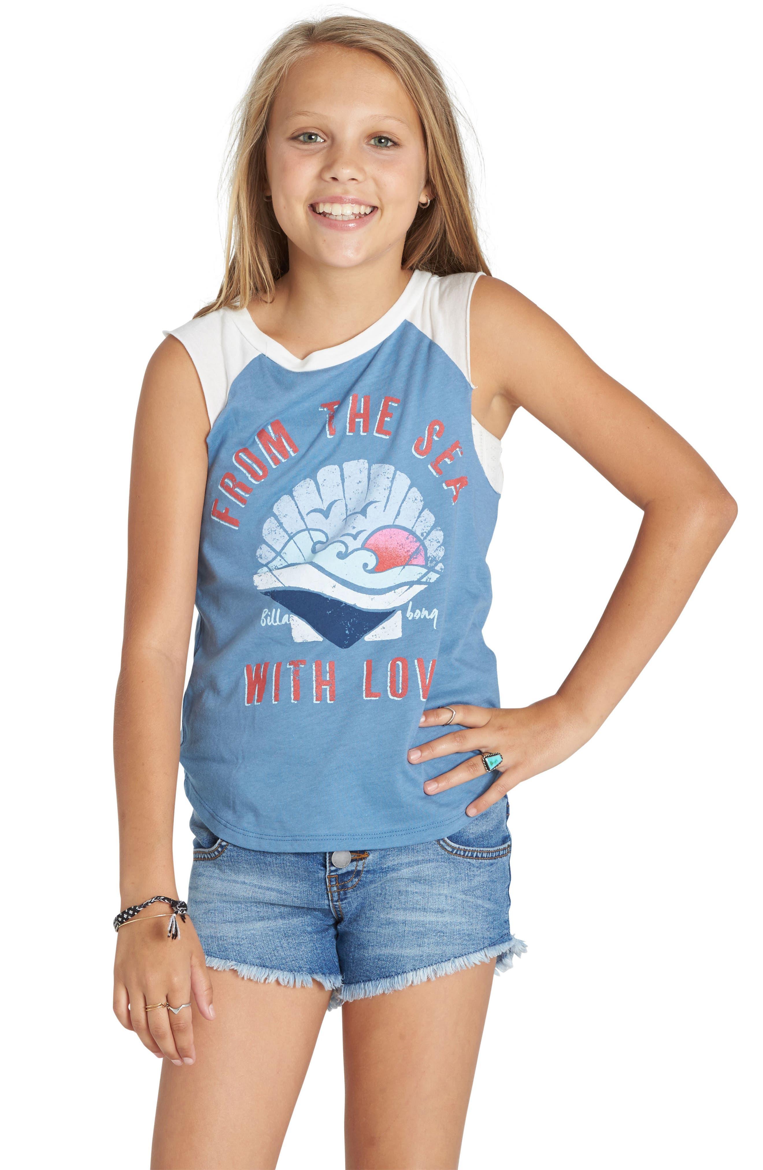 Billabong From the Sea Graphic Tank (Little Girls & Big Girls)