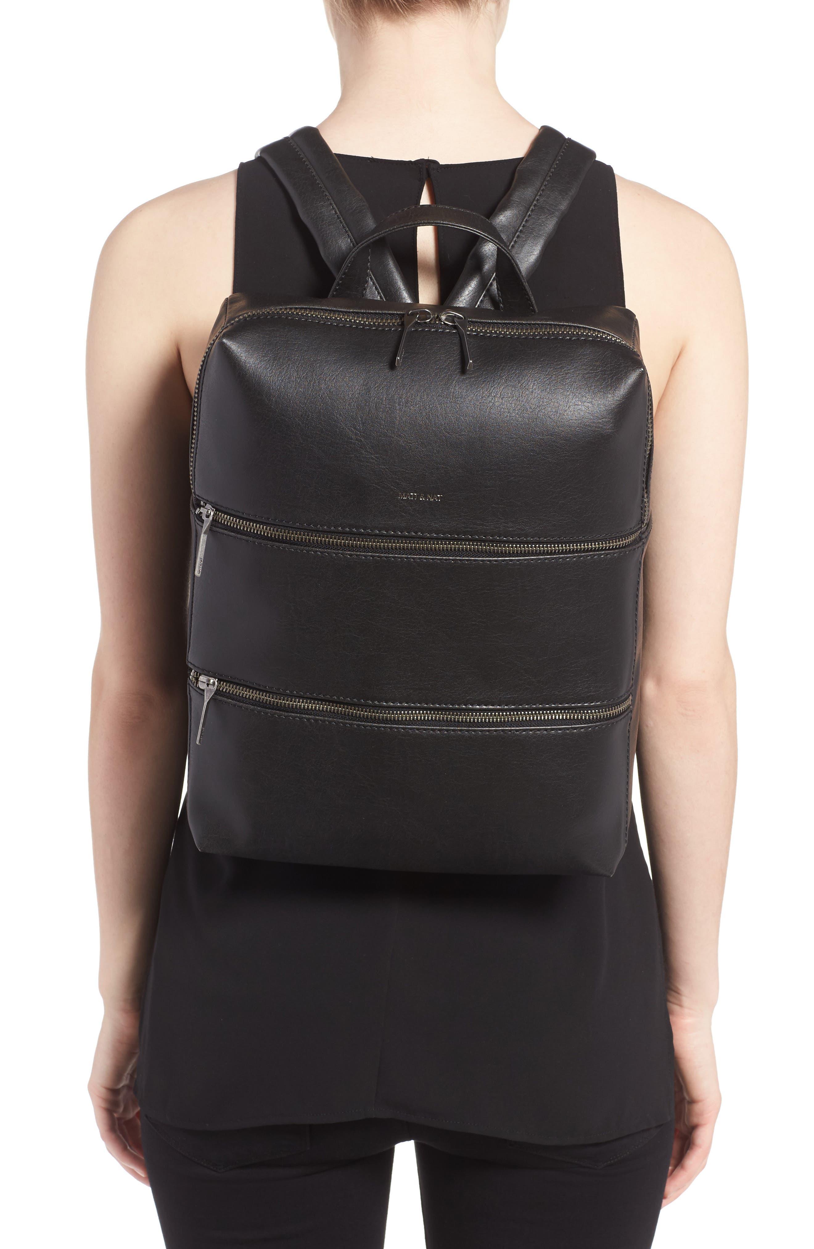 Alternate Image 2  - Matt & Nat Slate Faux Leather Backpack