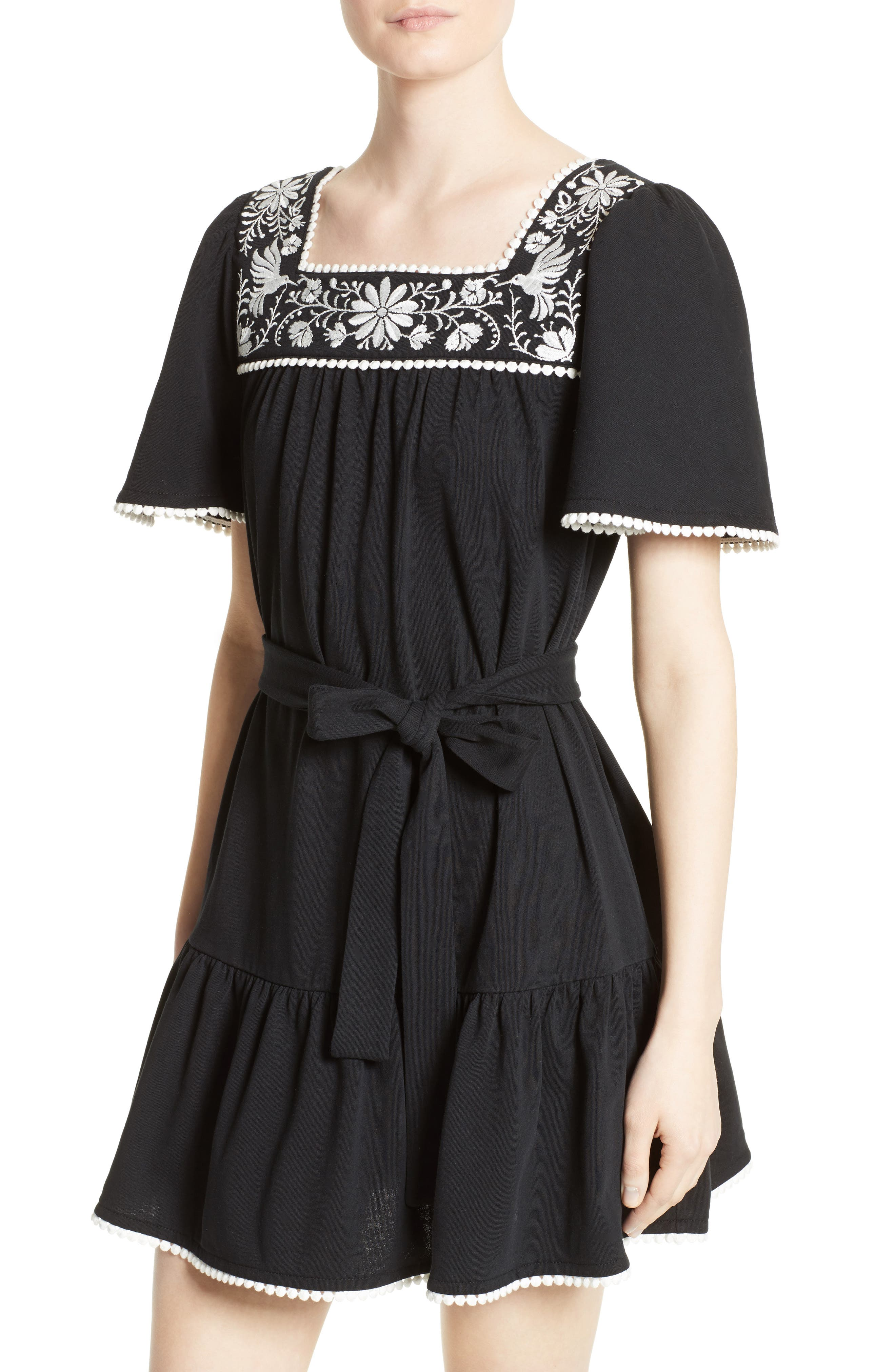 Alternate Image 4  - kate spade embroidered a-line dress