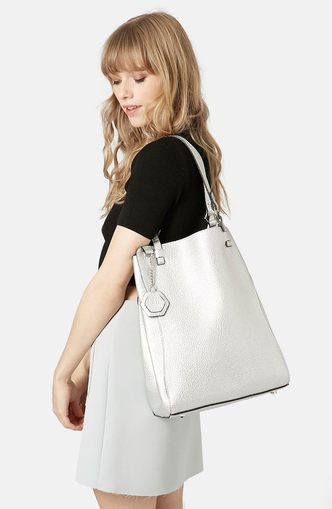 Alternate Image 2  - Topshop 'Hex' Faux Leather Tote