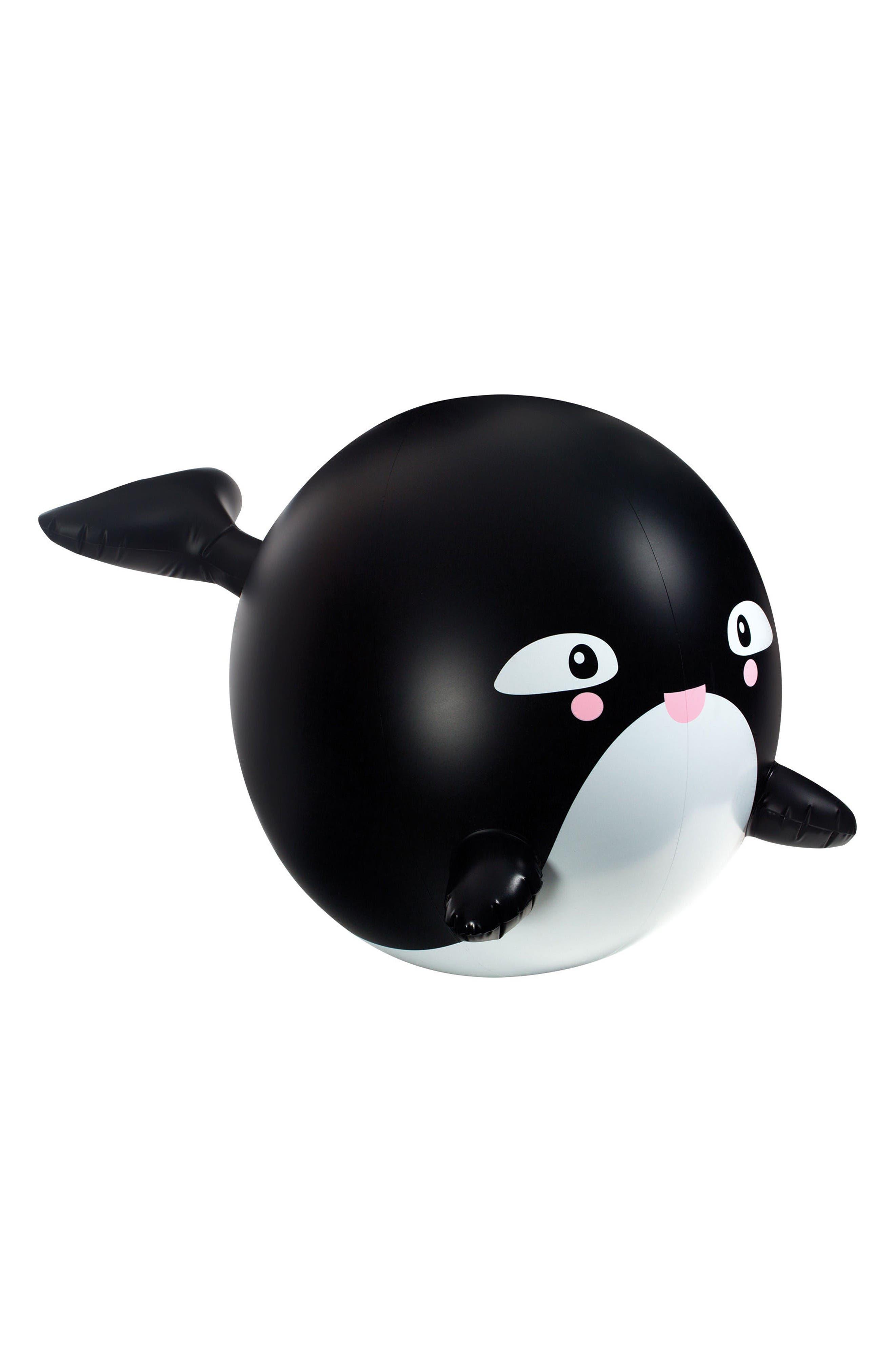 Toysmith Sprinkler Buddies - Orca Whale Inflatable Sprinkler