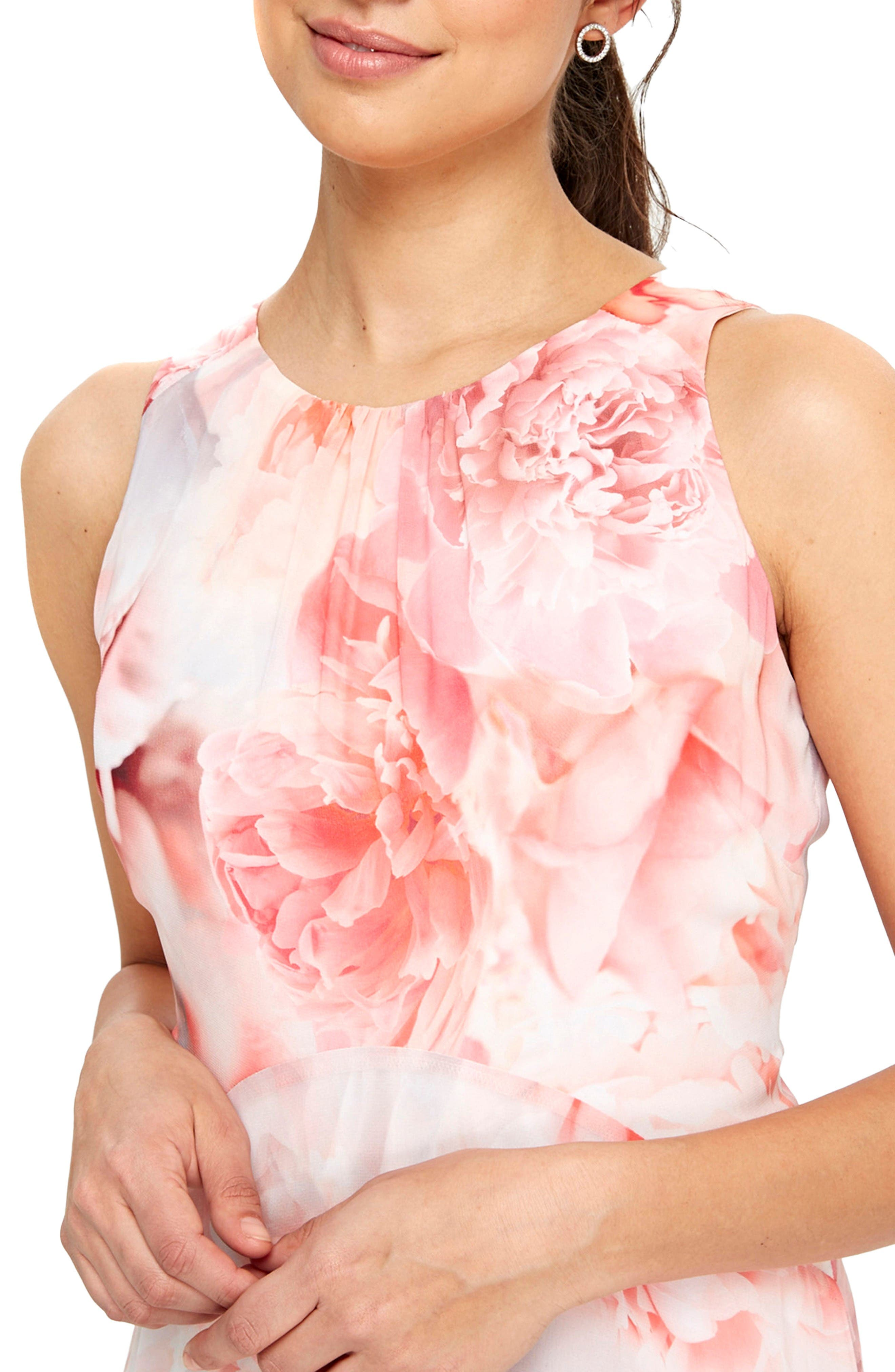 Alternate Image 3  - Wallis Pastel Rose Handkerchief Hem Dress