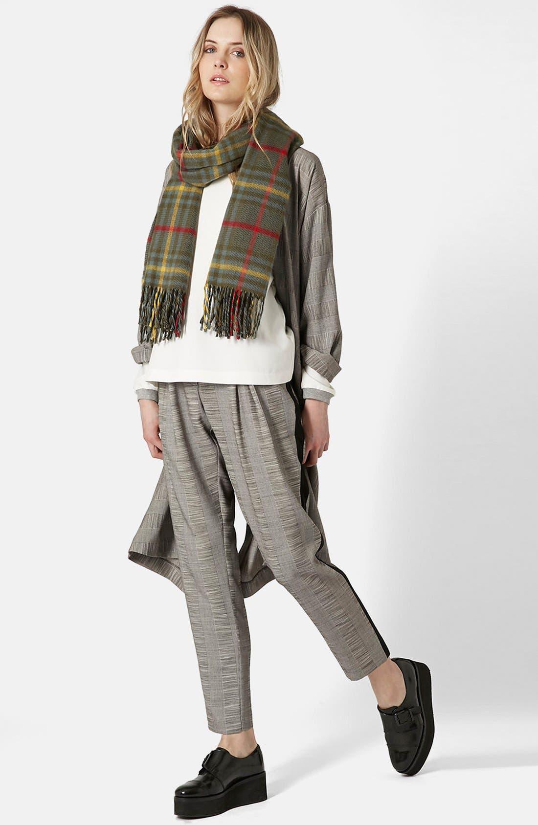 Alternate Image 4  - Topshop Check Tailored Jogger Pants