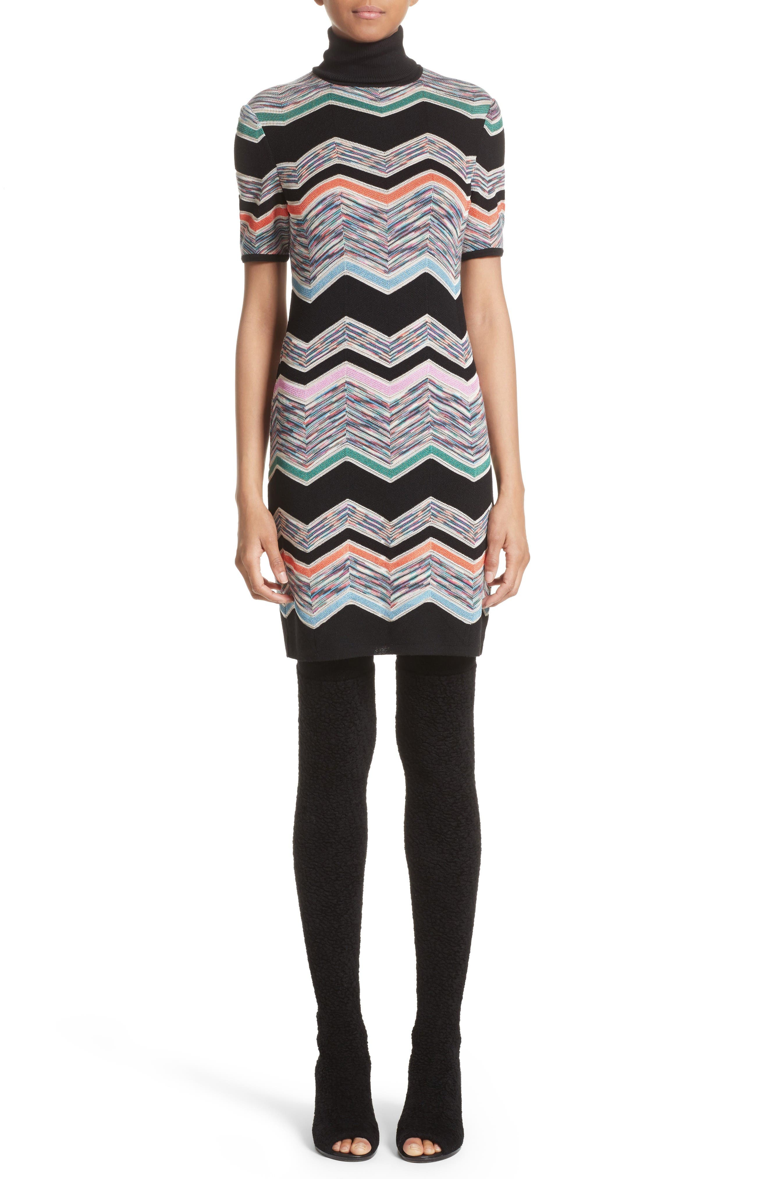 Missoni Zigzag Jacquard Knit Dress