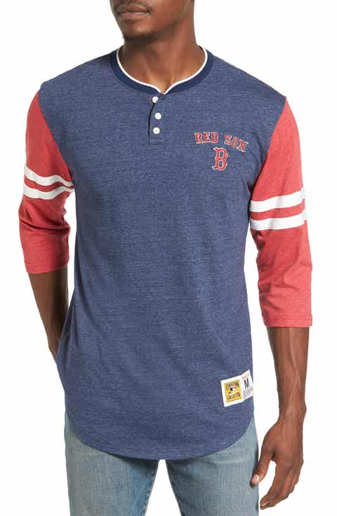 Mitchell   Ness Home Stretch - Boston Red Sox Henley