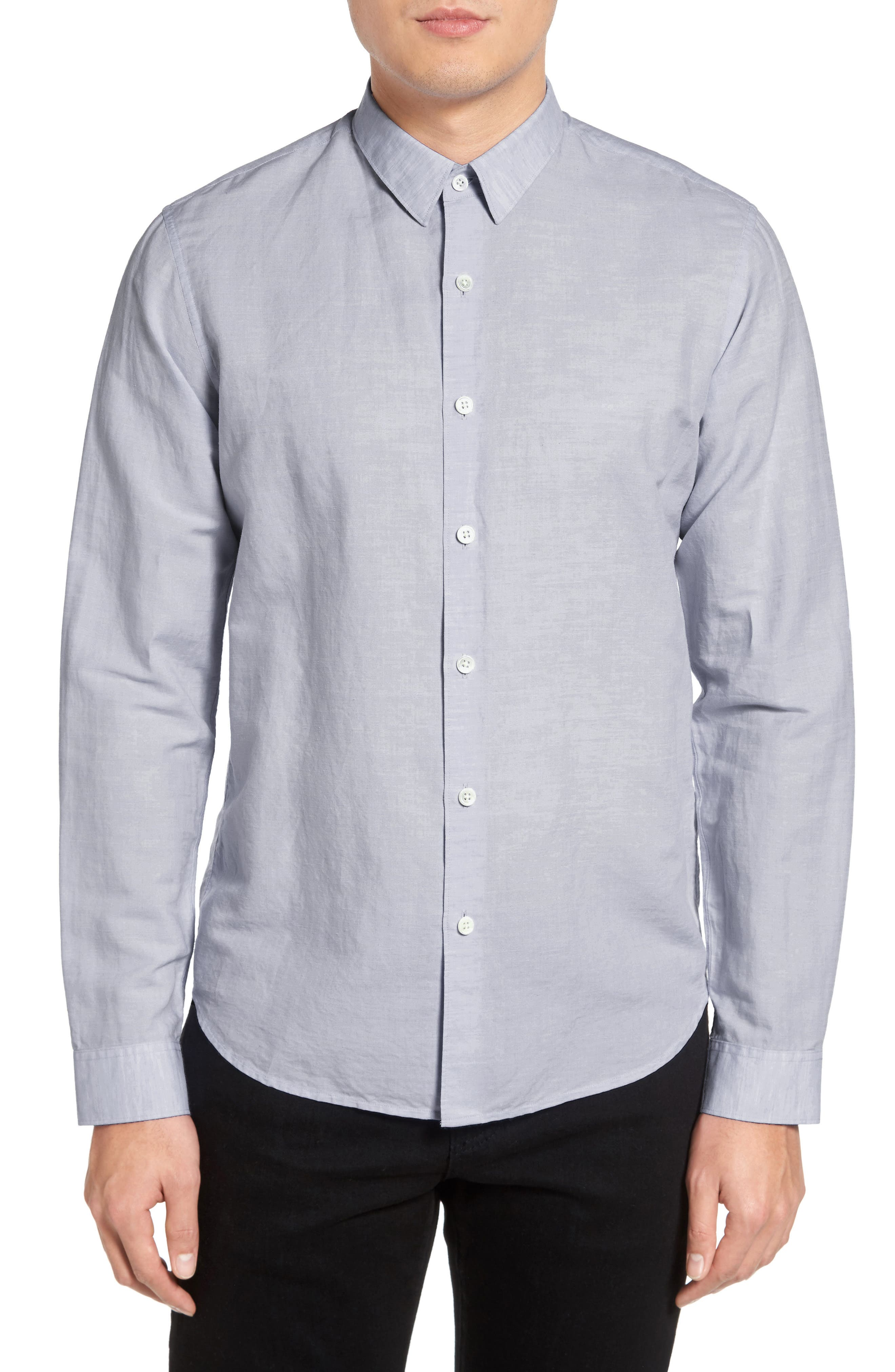 THEORY Rammy Trim Fit Linen & Cotton Sport