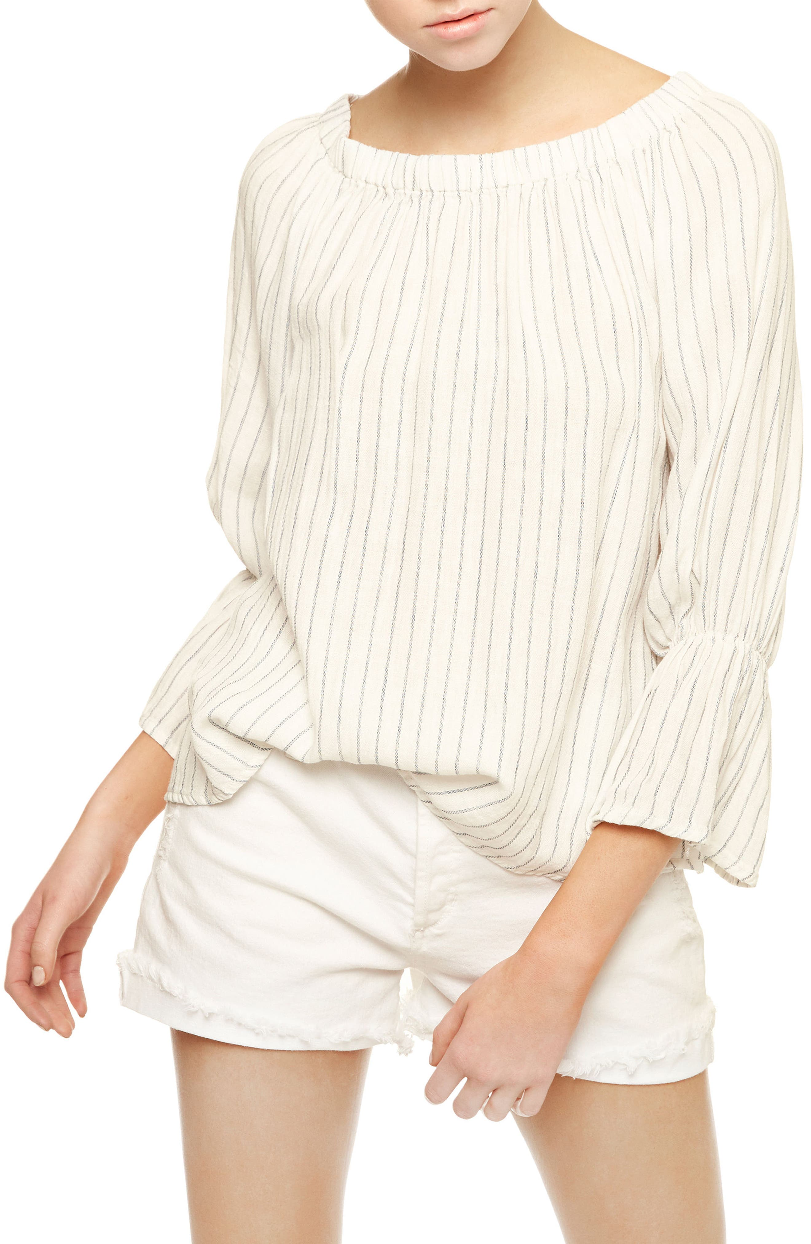 Alternate Image 3  - Sanctuary Bell Sleeve Stripe Top (Regular & Petite)
