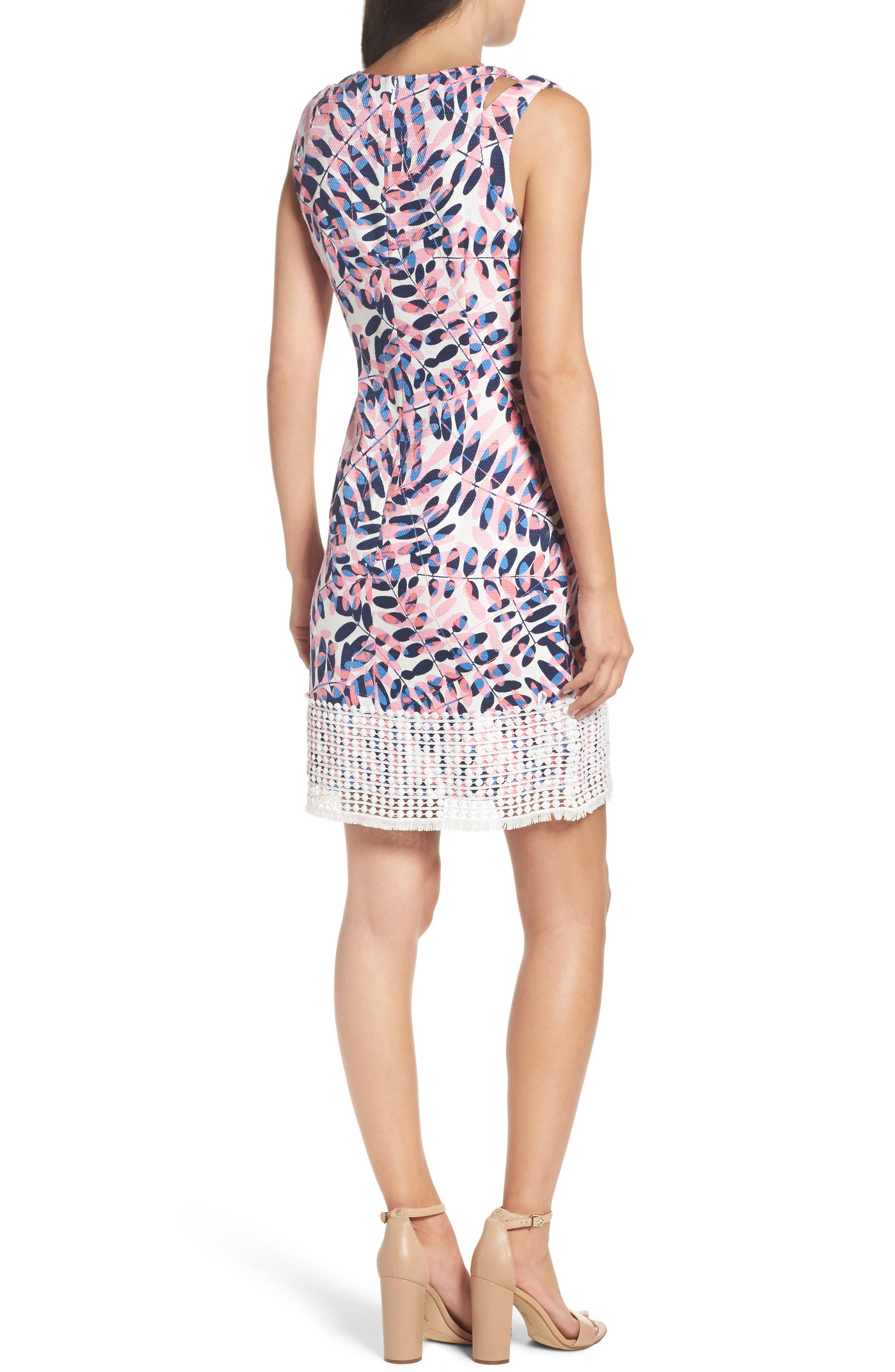 Alternate Image 2  - Taylor Dresses Print Sheath Dress