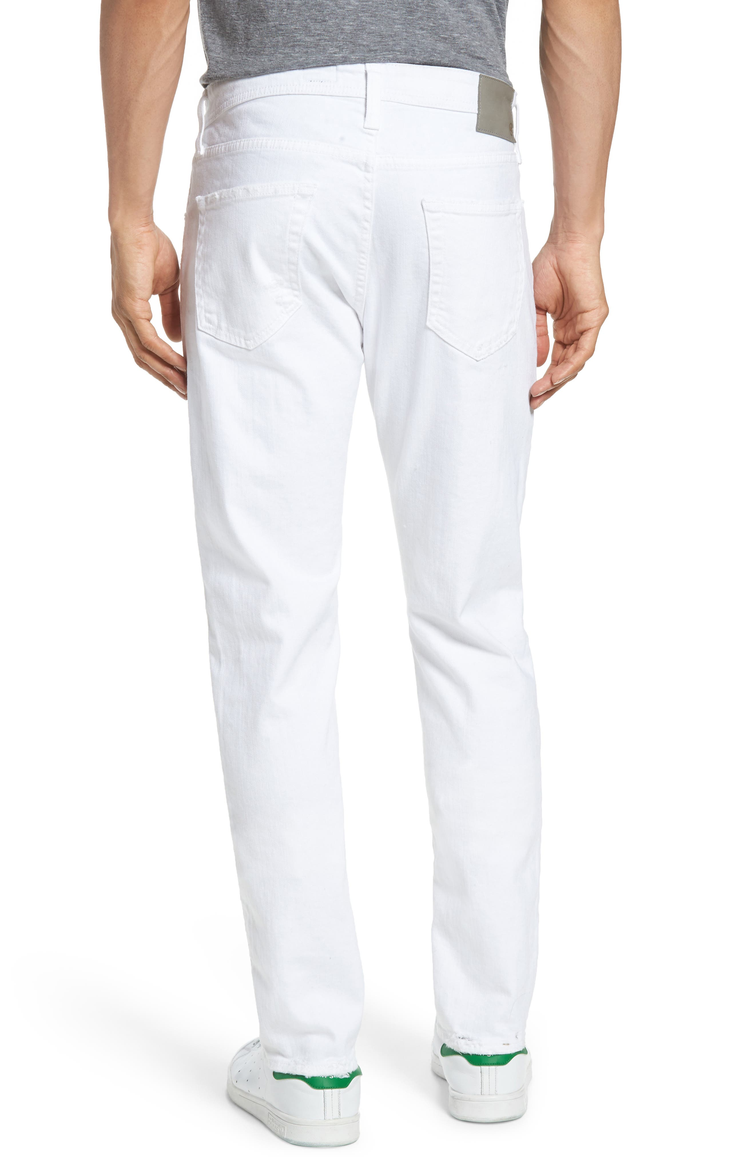 Alternate Image 2  - AG Tellis Slim Fit Jeans (Ragged White)