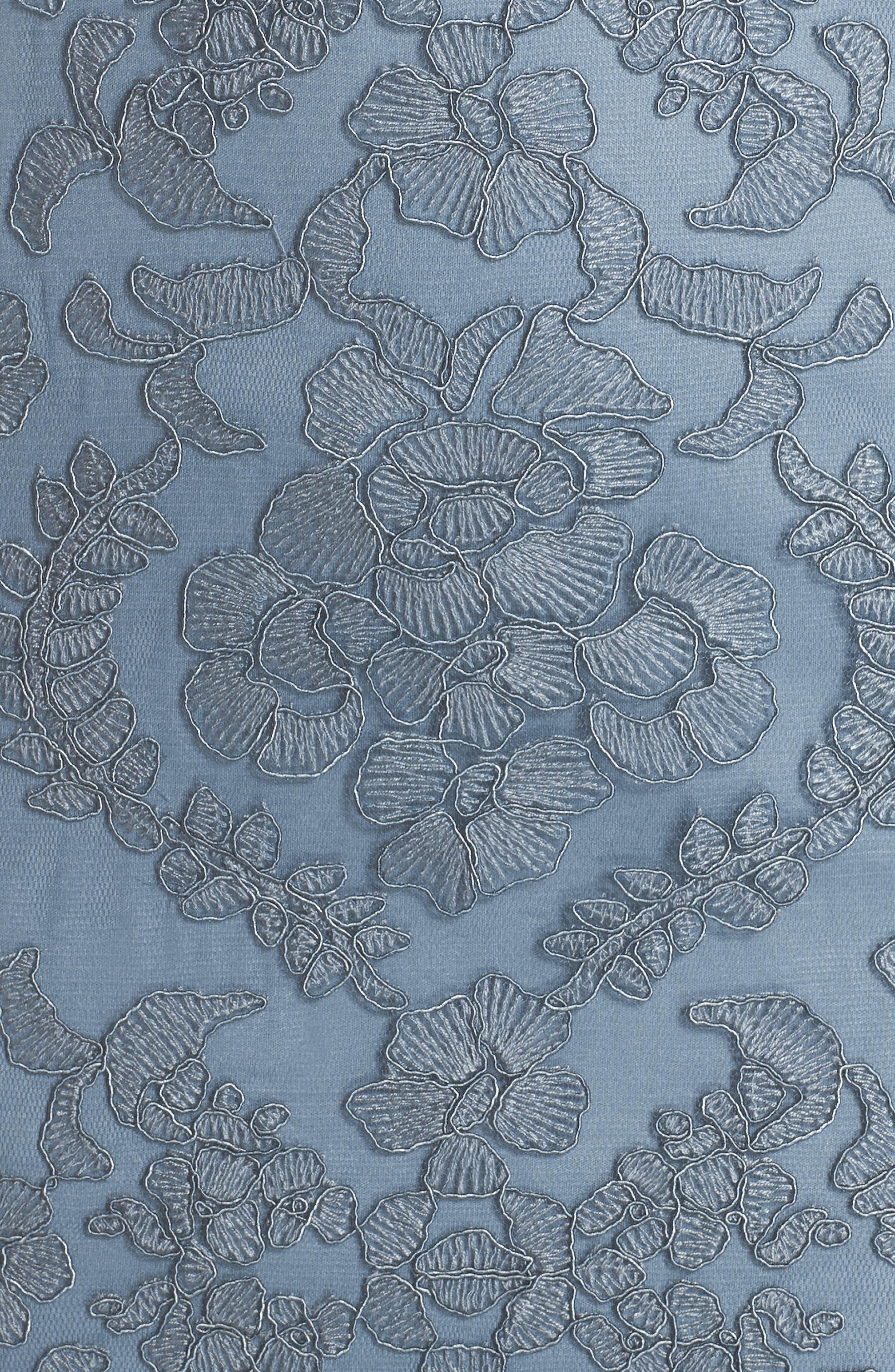 Alternate Image 6  - Tadashi Shoji Embroidered Tulle Sheath Dress