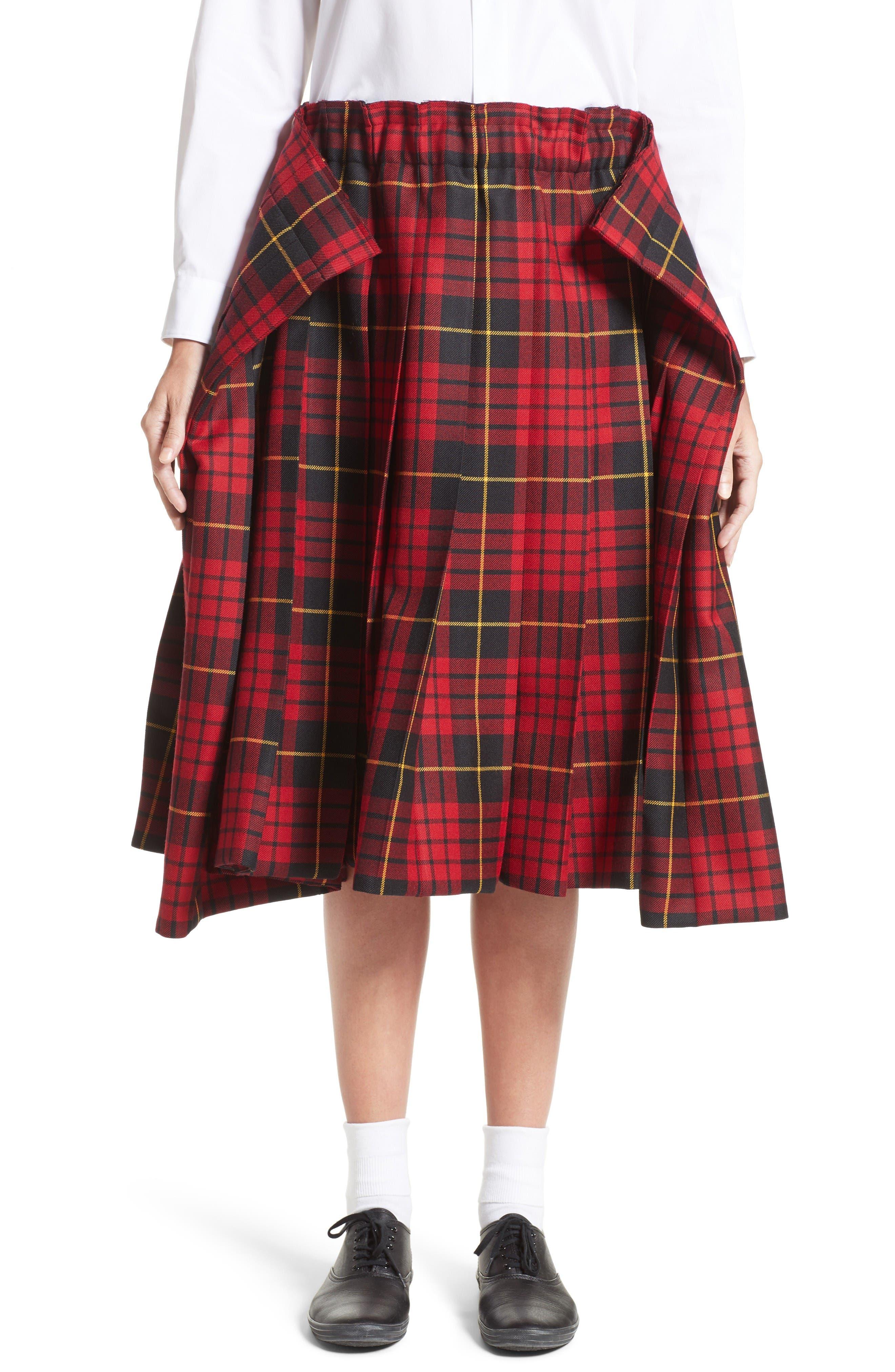 Main Image - Comme des Garçons Tartan Check Wool Skirt