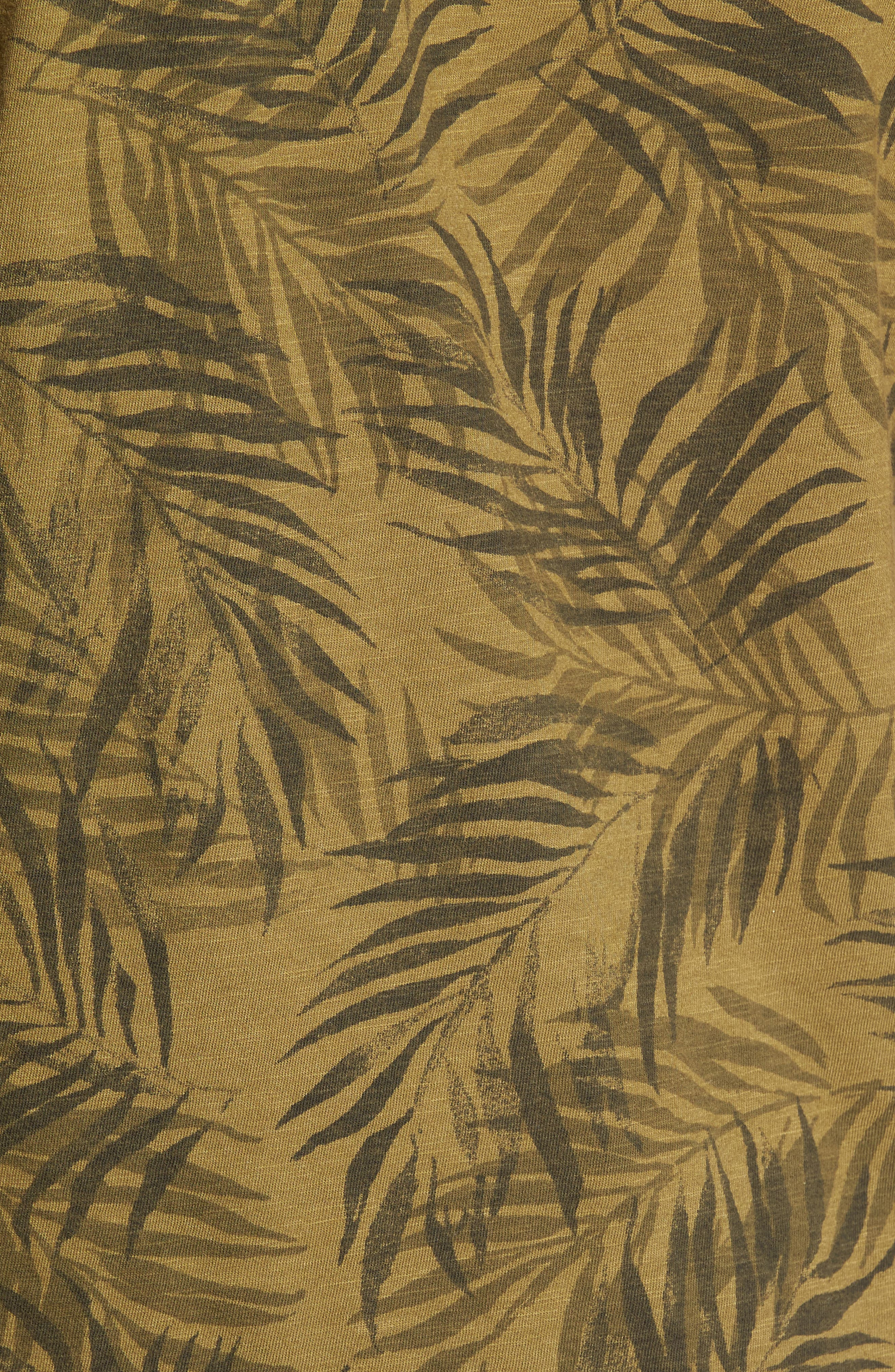 Alternate Image 5  - Lucky Brand Palm Print Notch T-Shirt