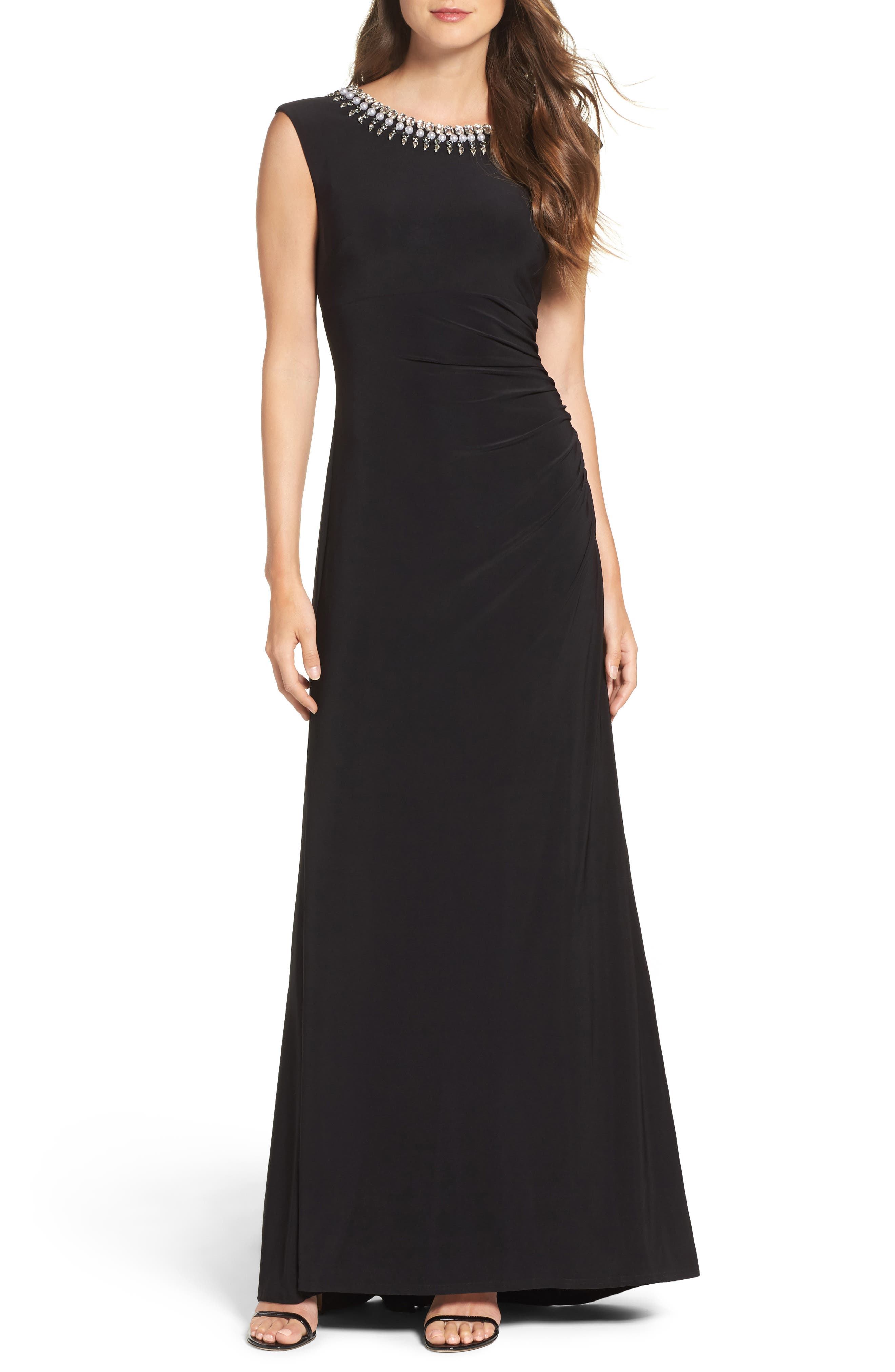 Main Image - Vince Camuto Embellished Gown