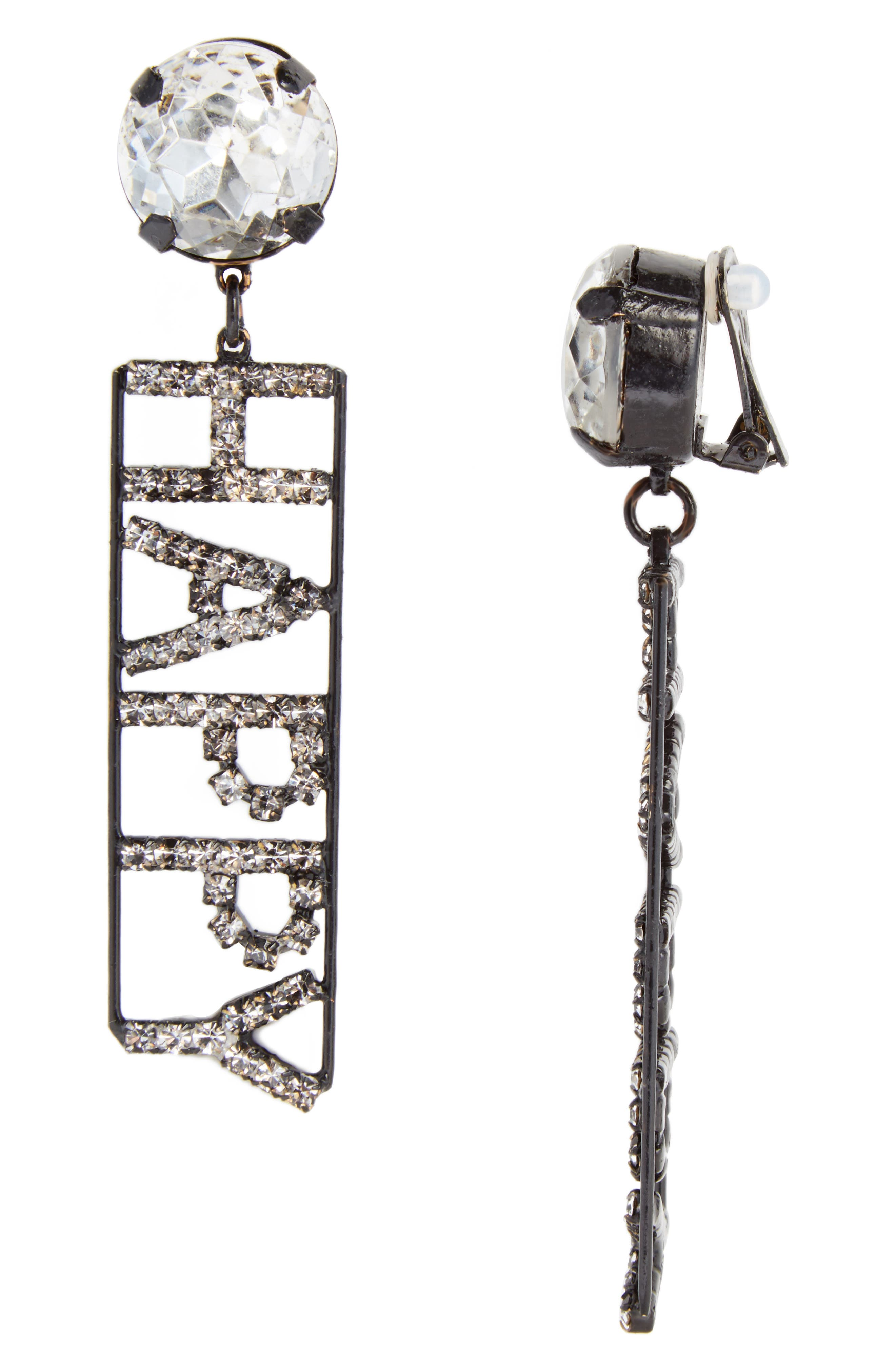 Ashley Williams Happy Crystal Statement Earrings (Nordstrom Exclusive)