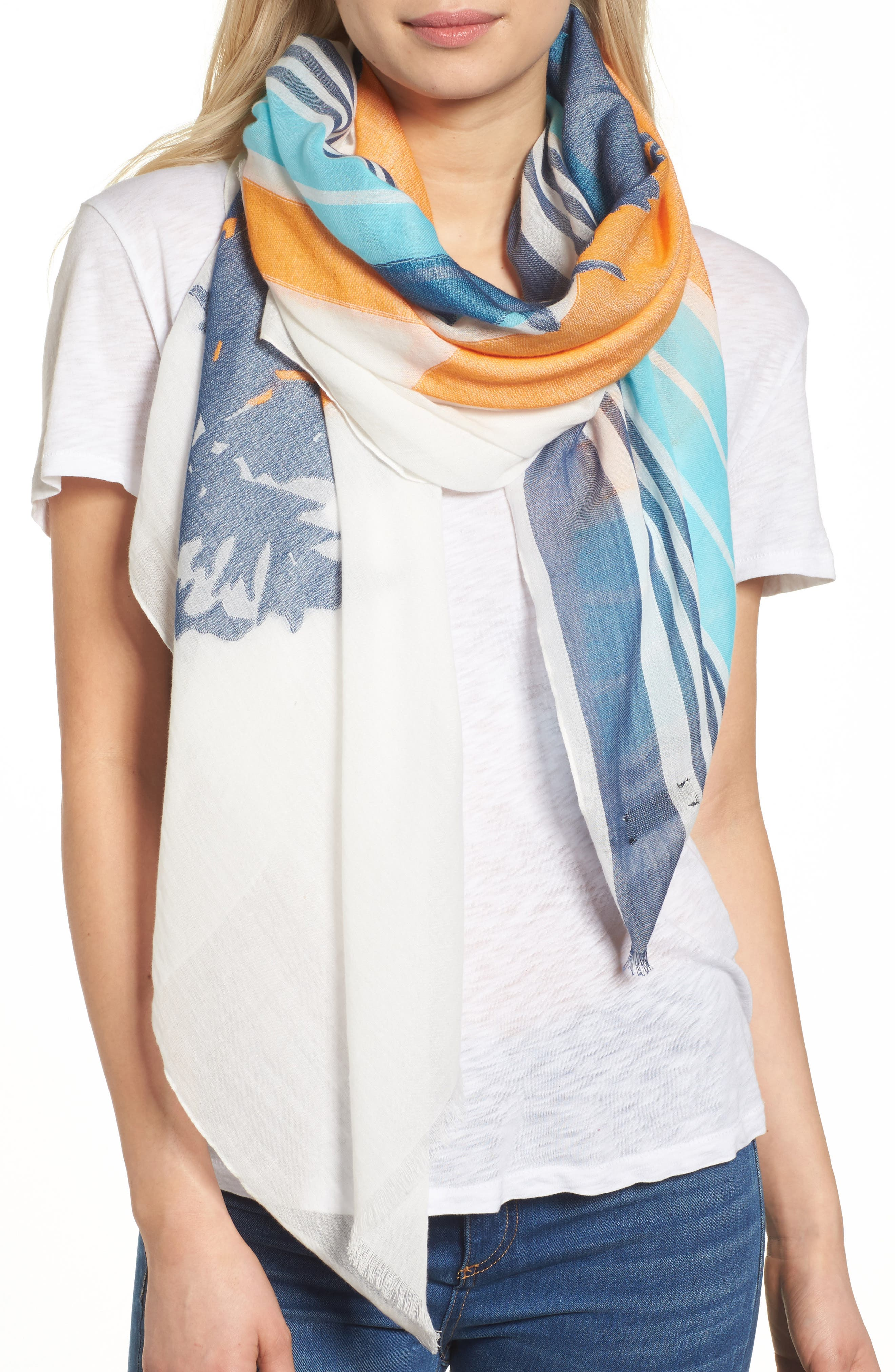 rag & bone Stripe Sunset Scarf