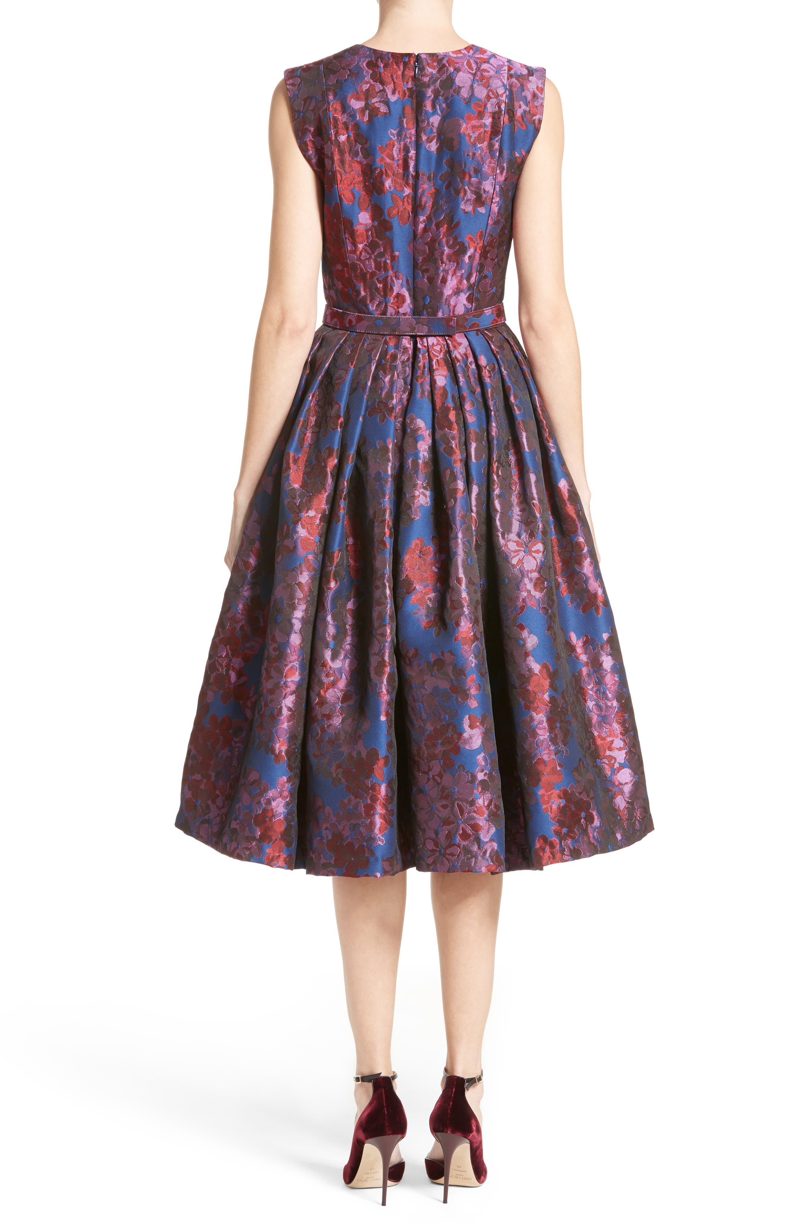 Alternate Image 2  - Badgley Mischka Couture Floral Jacquard Fit & Flare Dress (Nordstrom Exclusive)