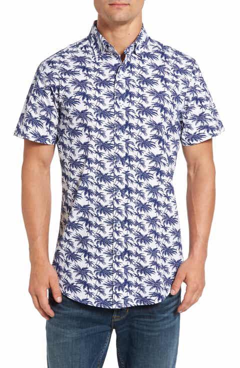 Rodd   Gunn Blacks Point Print Sport Shirt