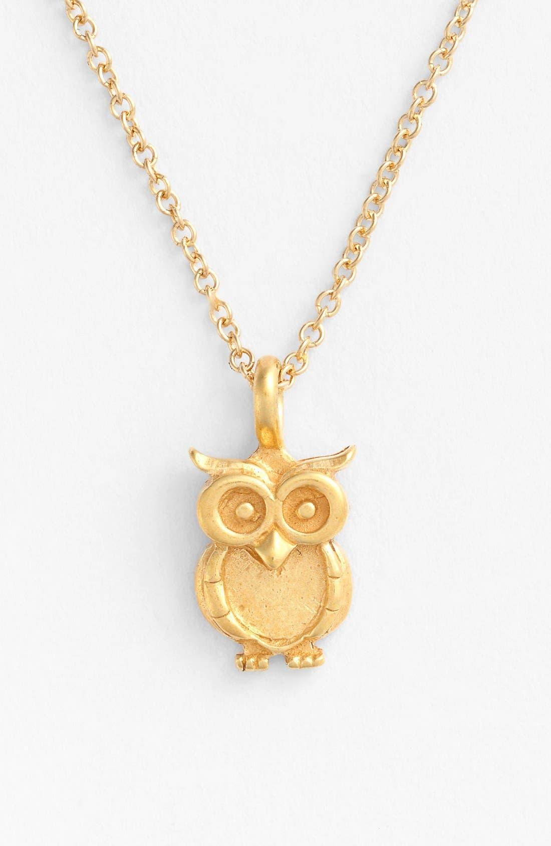 Alternate Image 4  - Dogeared 'Reminder - Wisdom' Boxed Owl Pendant Necklace