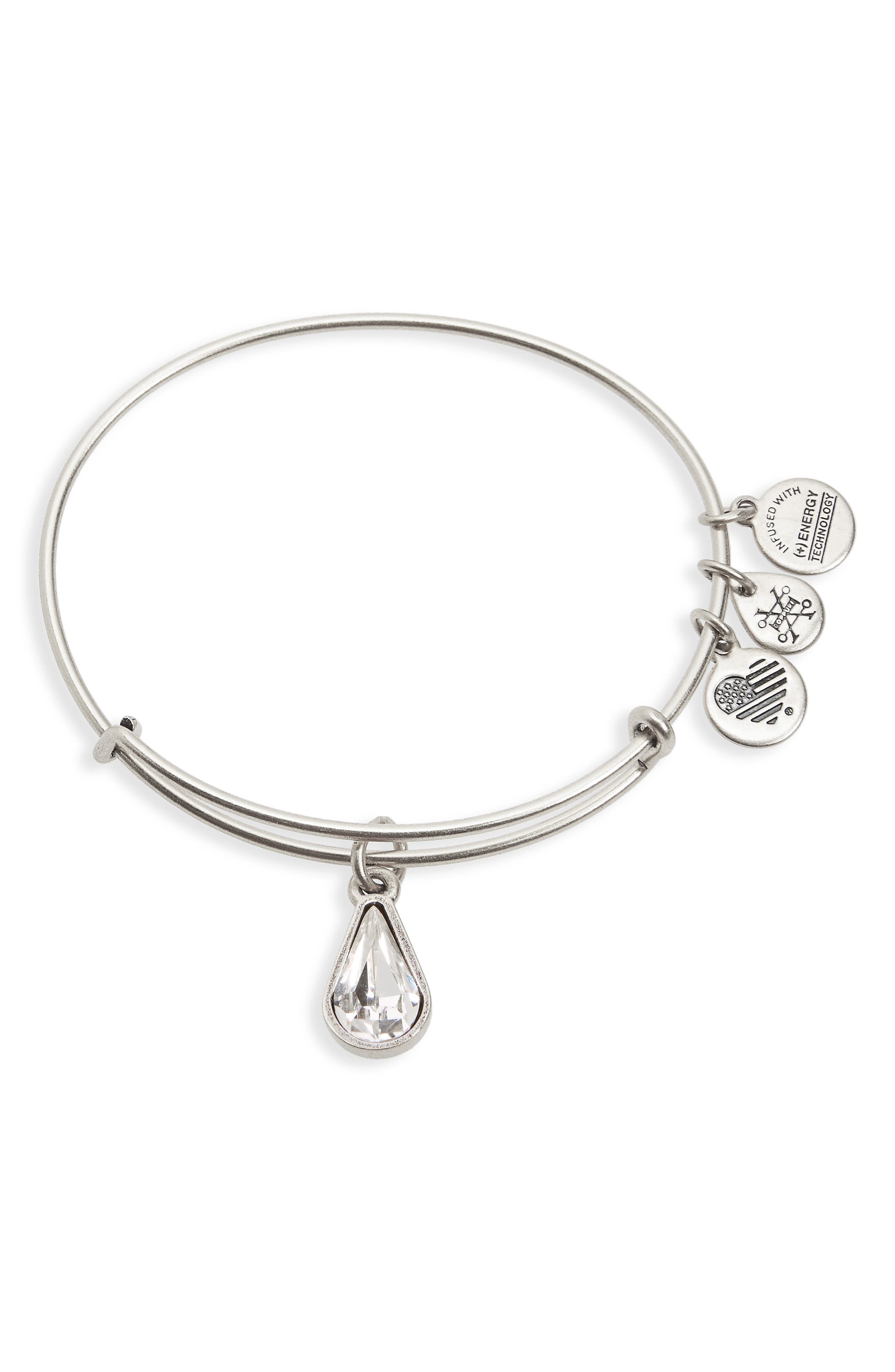 Alex and Ani Birthstone Adjustable Wire Bangle