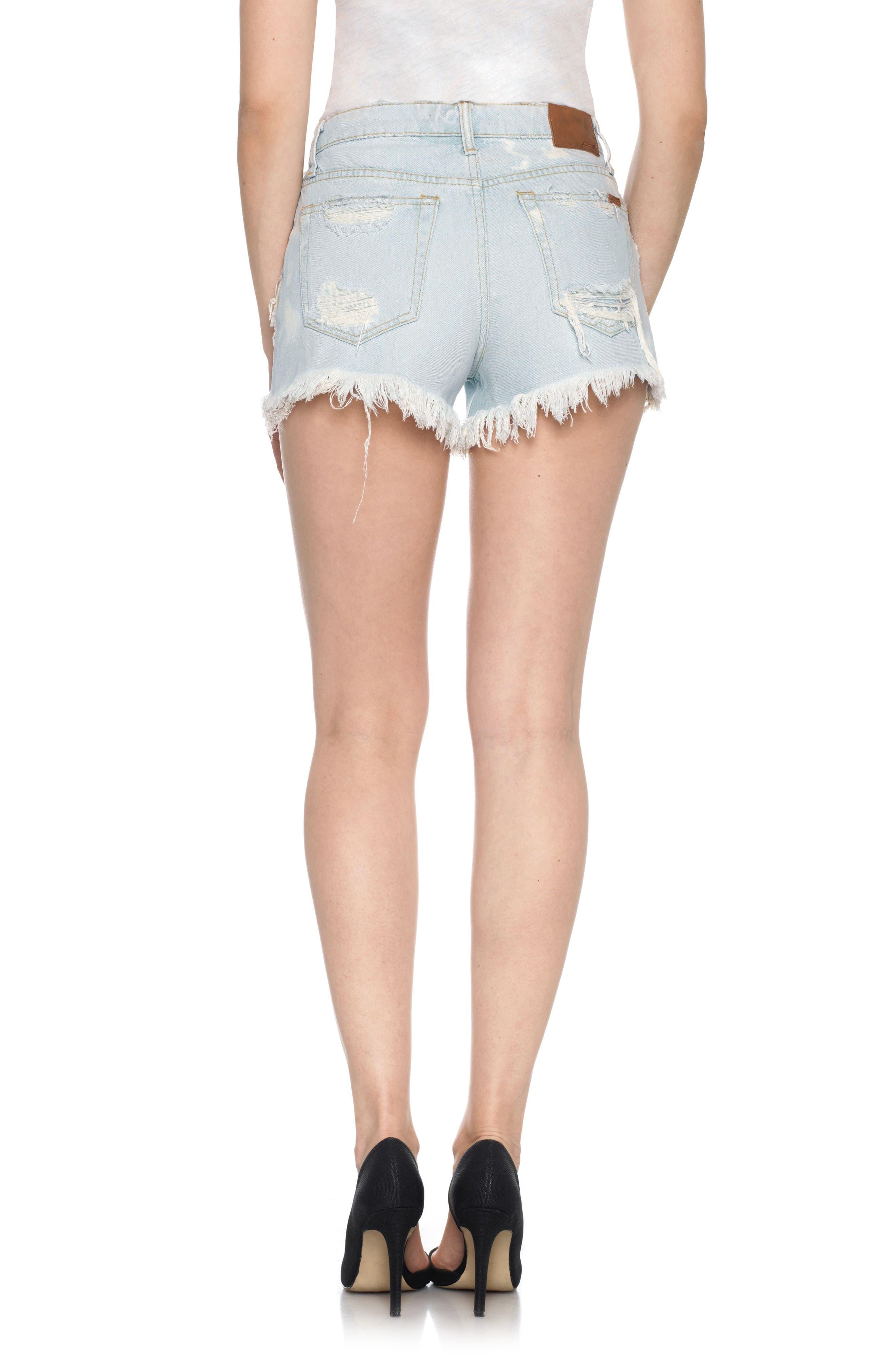 Alternate Image 2  - Joe's Collector's - Charlie High Rise Cutoff Denim Shorts (Elkie)