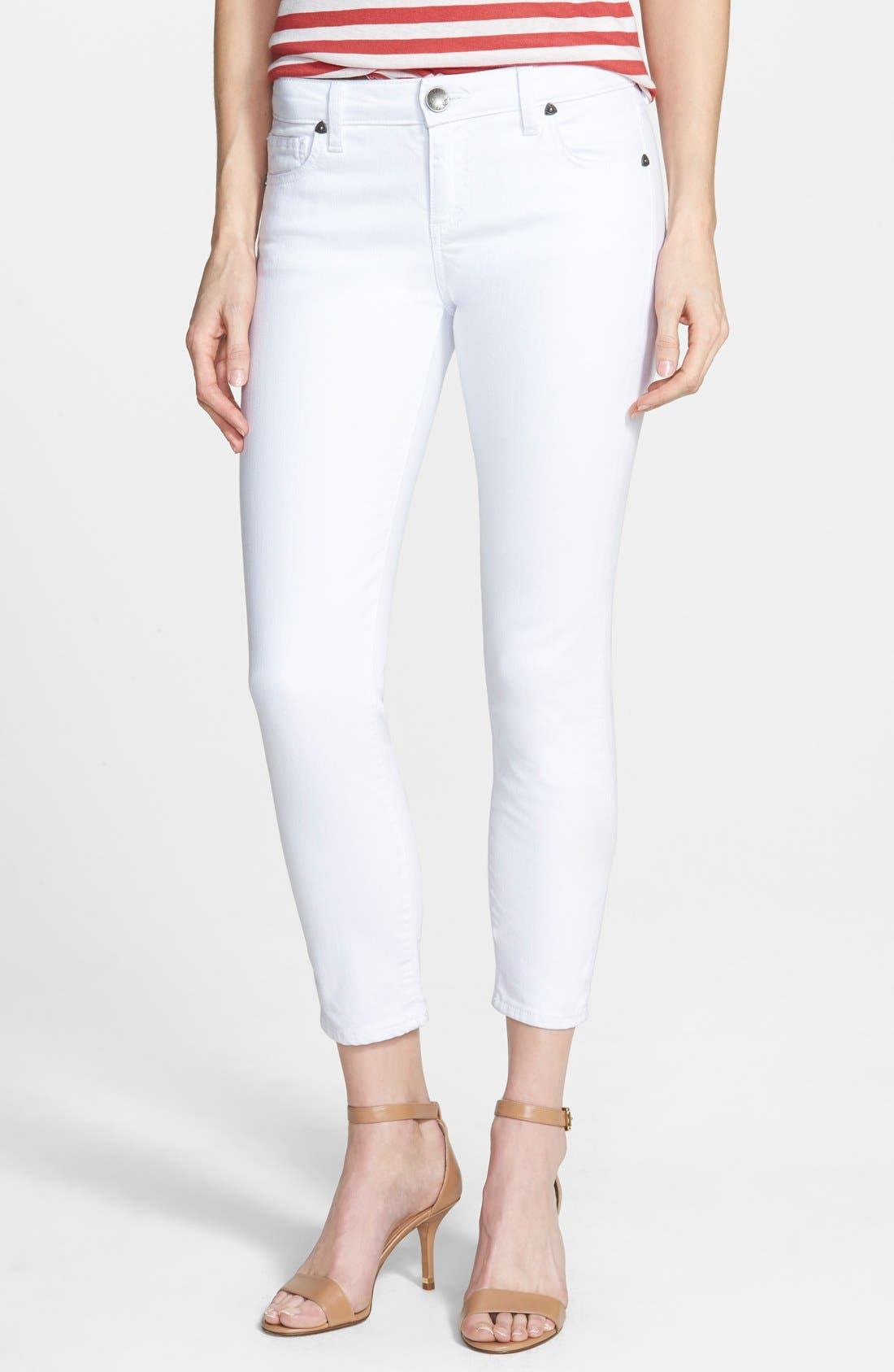 KUT from the Kloth Crop Skinny Jeans (White)