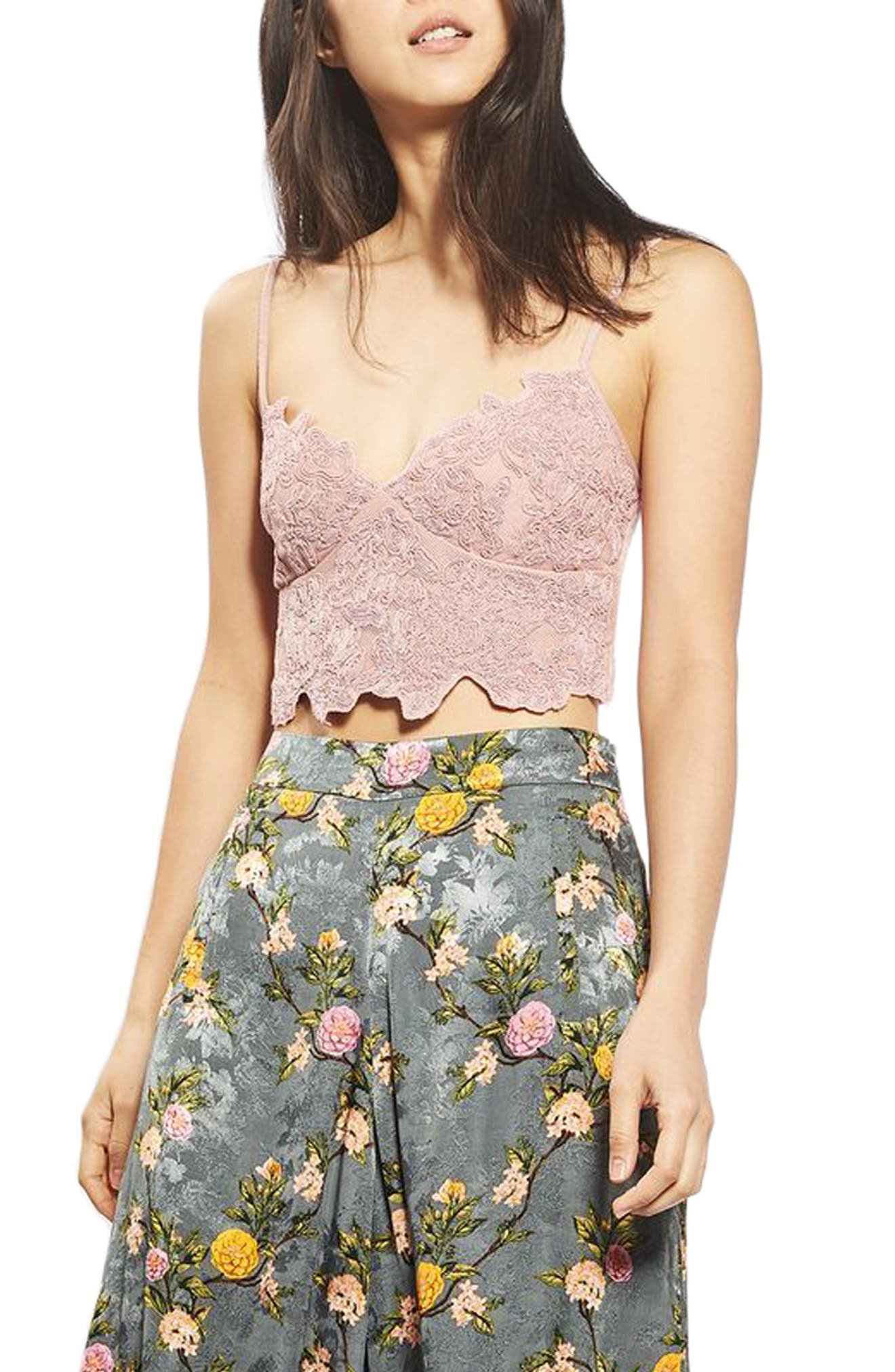 Main Image - Topshop Embroidered Cutwork Bralette