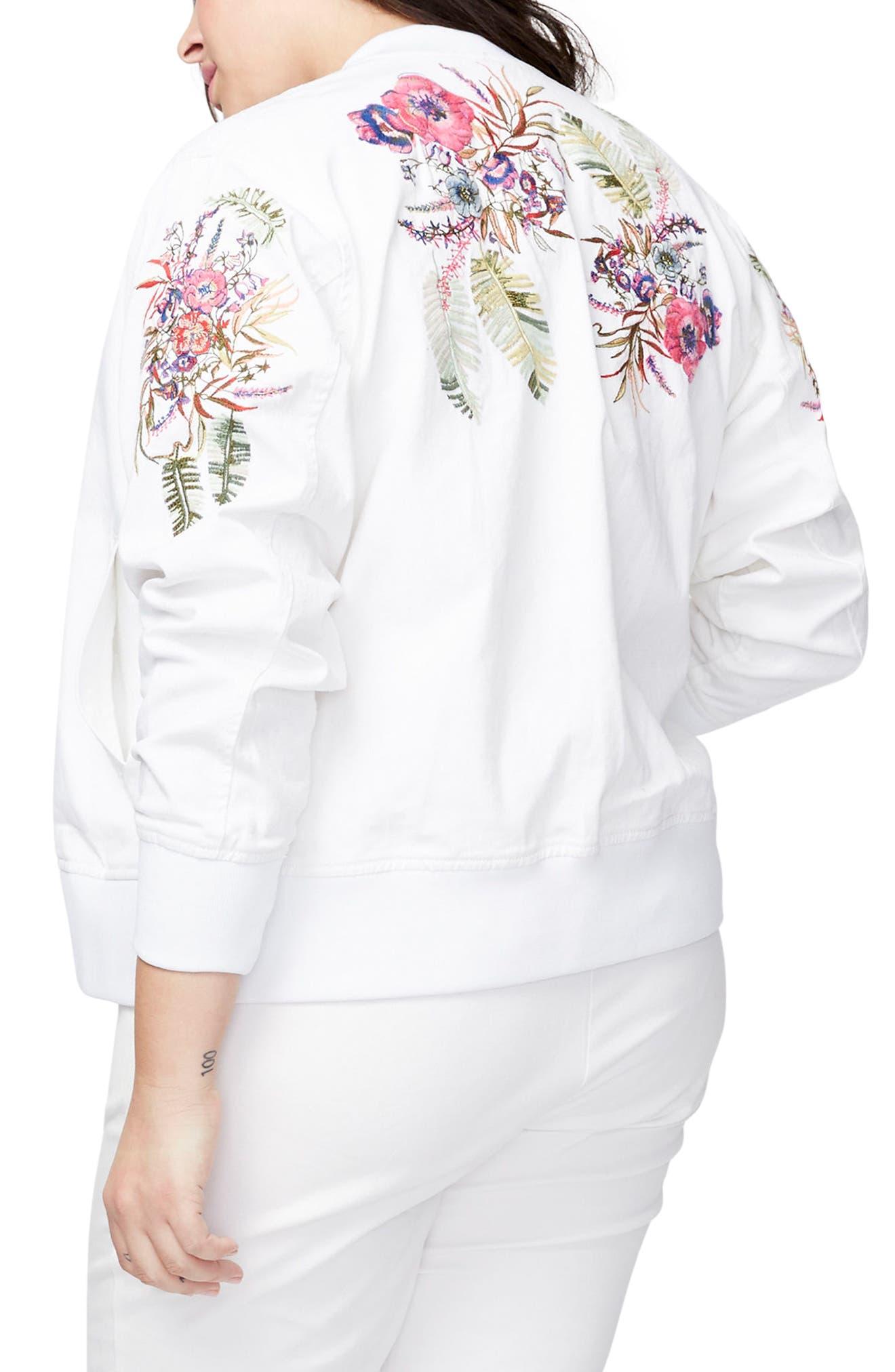RACHEL Rachel Roy Embroidered Bomber Jacket (Plus Size)