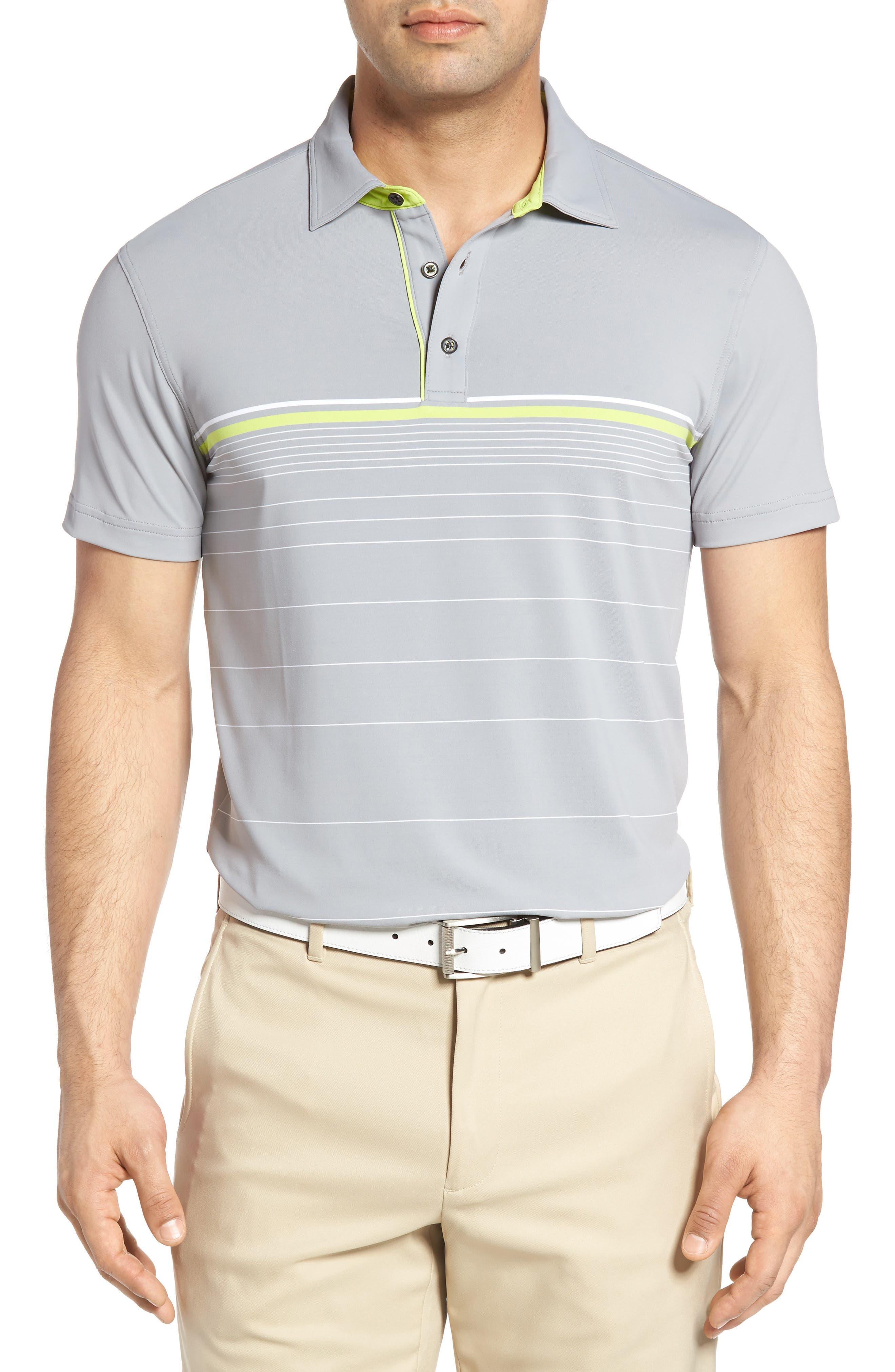 Bobby Jones Tyson Tech Stripe Golf Polo