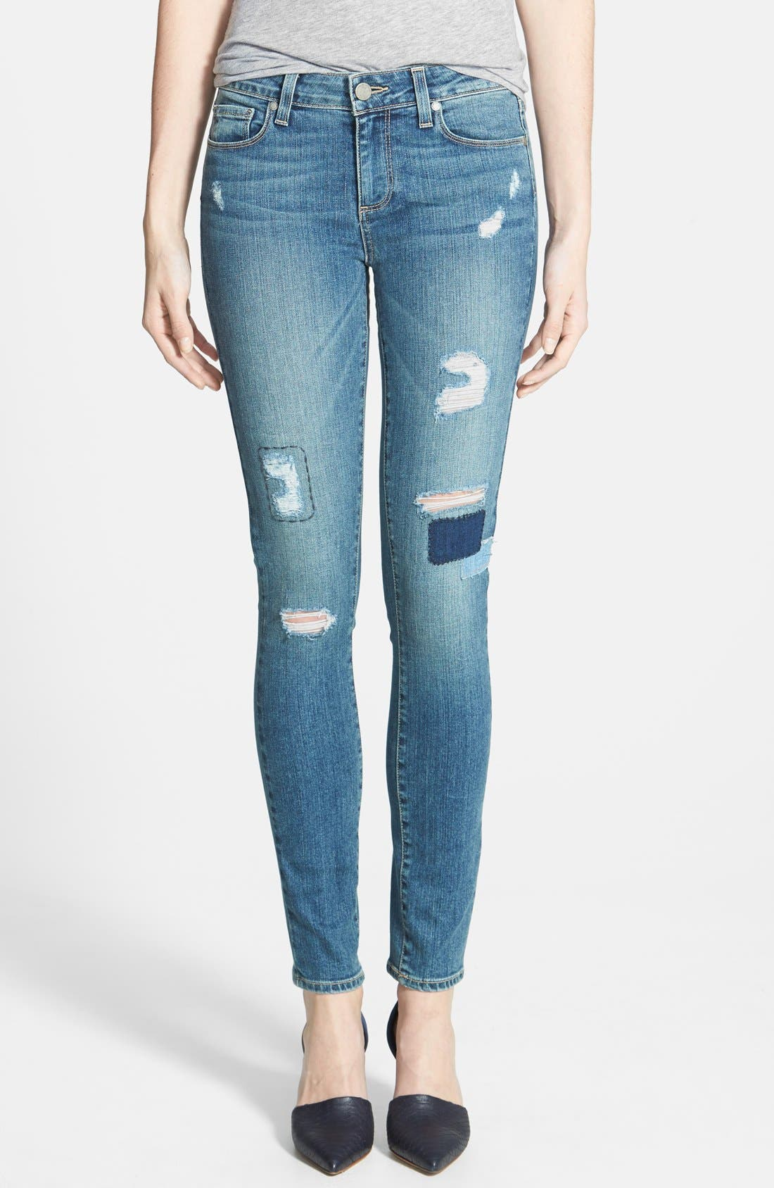 Main Image - Paige Denim 'Verdugo' Ultra Skinny Jeans (Dazeley Destructed)