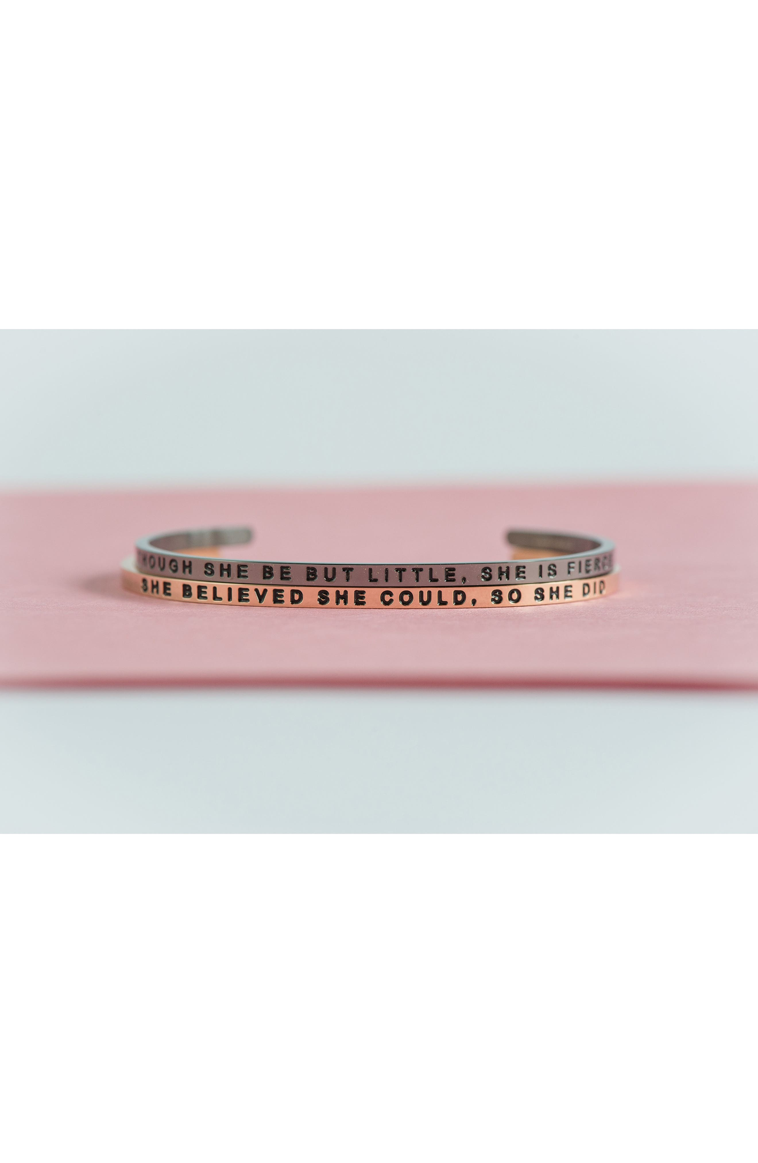 Alternate Image 3  - MantraBand® 'She Believed She Could' Cuff