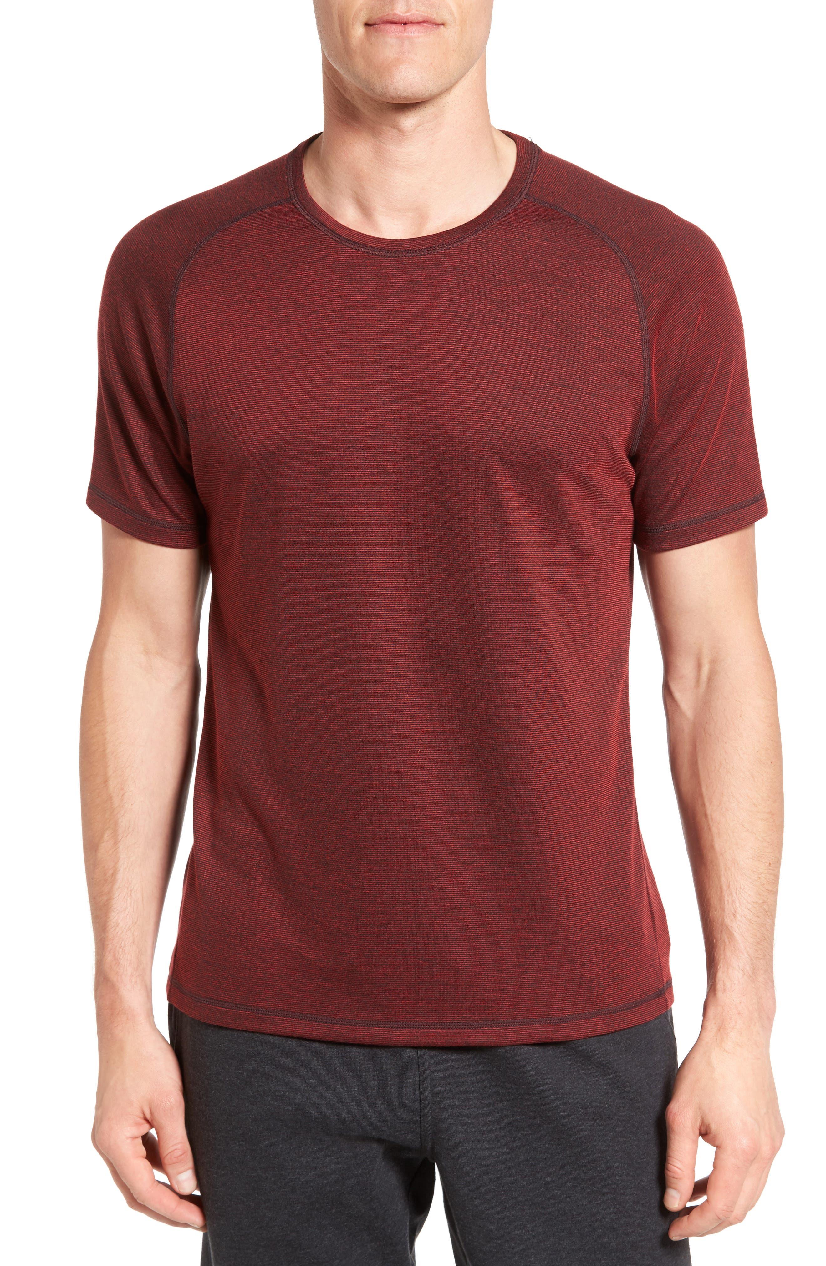 Zella 'Celsian' Moisture Wicking Stripe T-Shirt