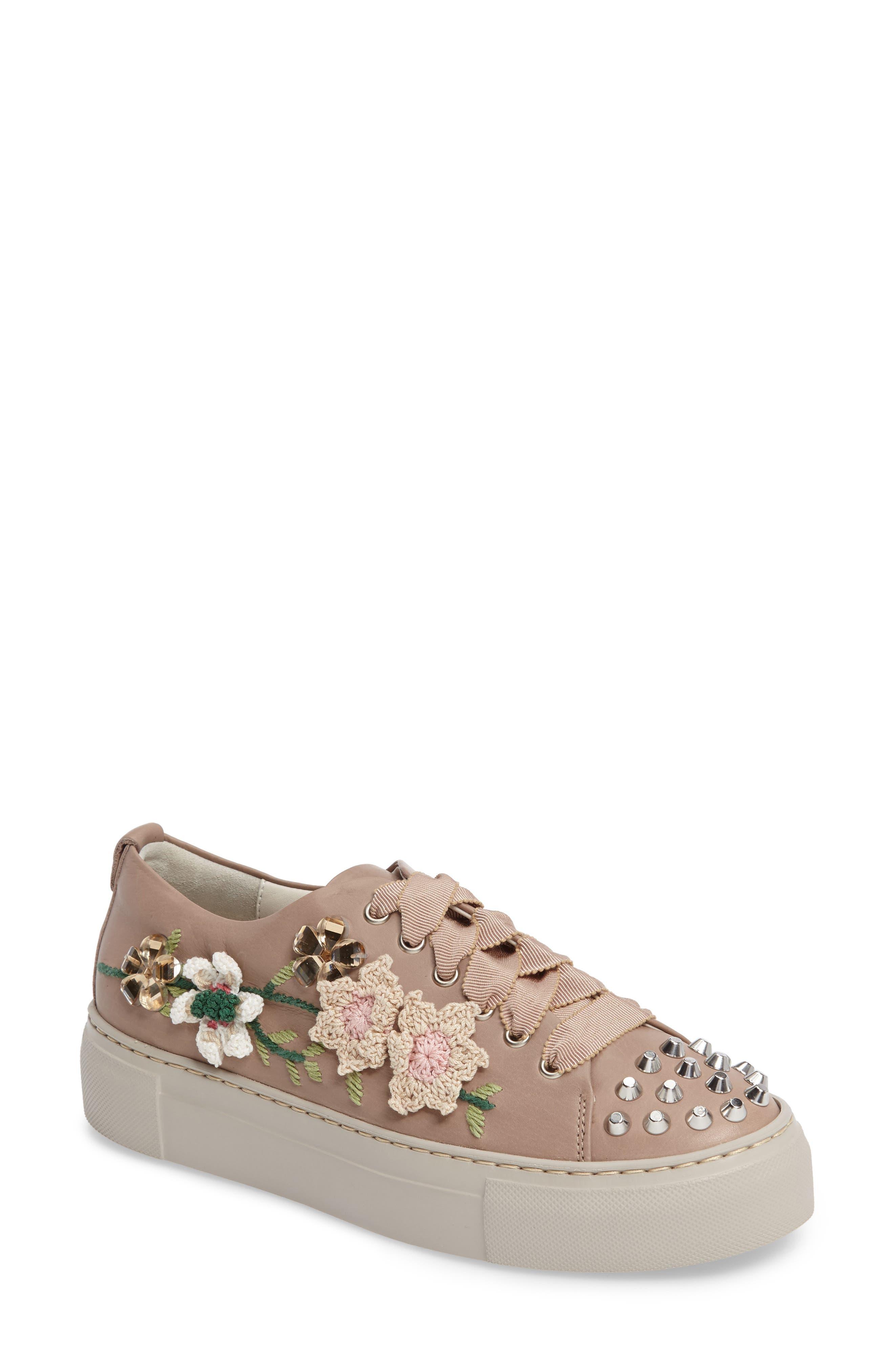 AGL Flower Embellished Sneaker (Women)