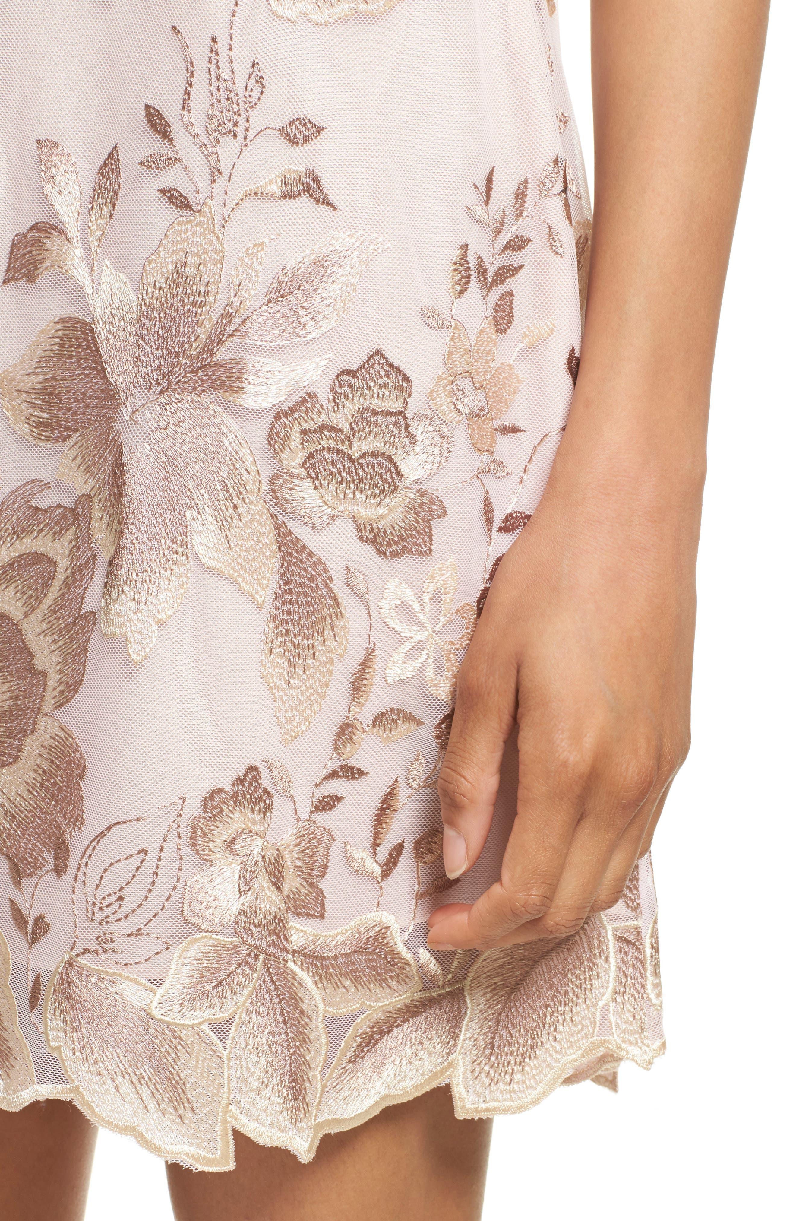 Alternate Image 4  - Free People Rosalie Embroidered Minidress