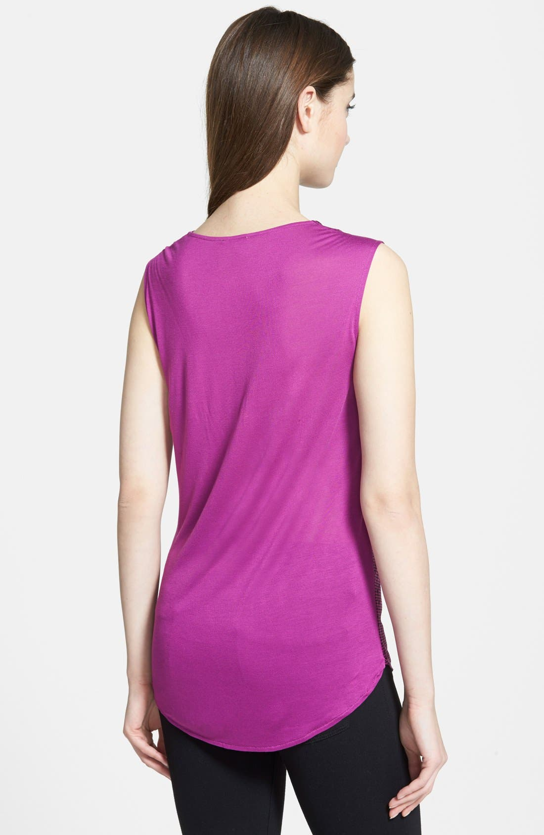 Alternate Image 2  - Halogen® Sleeveless Drape Neck Top
