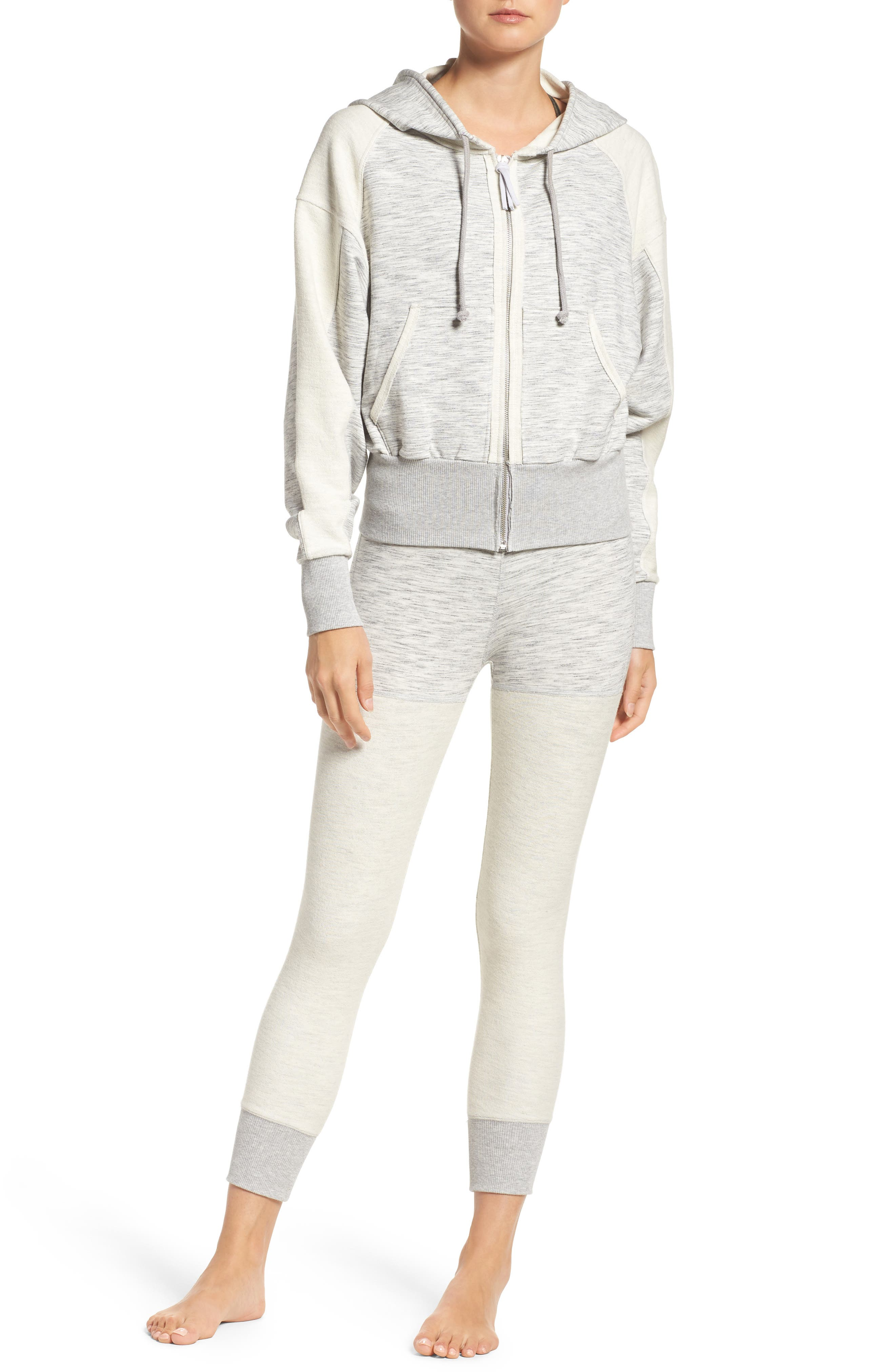 Free People Hoodie & Leggings Outfit with Accessories