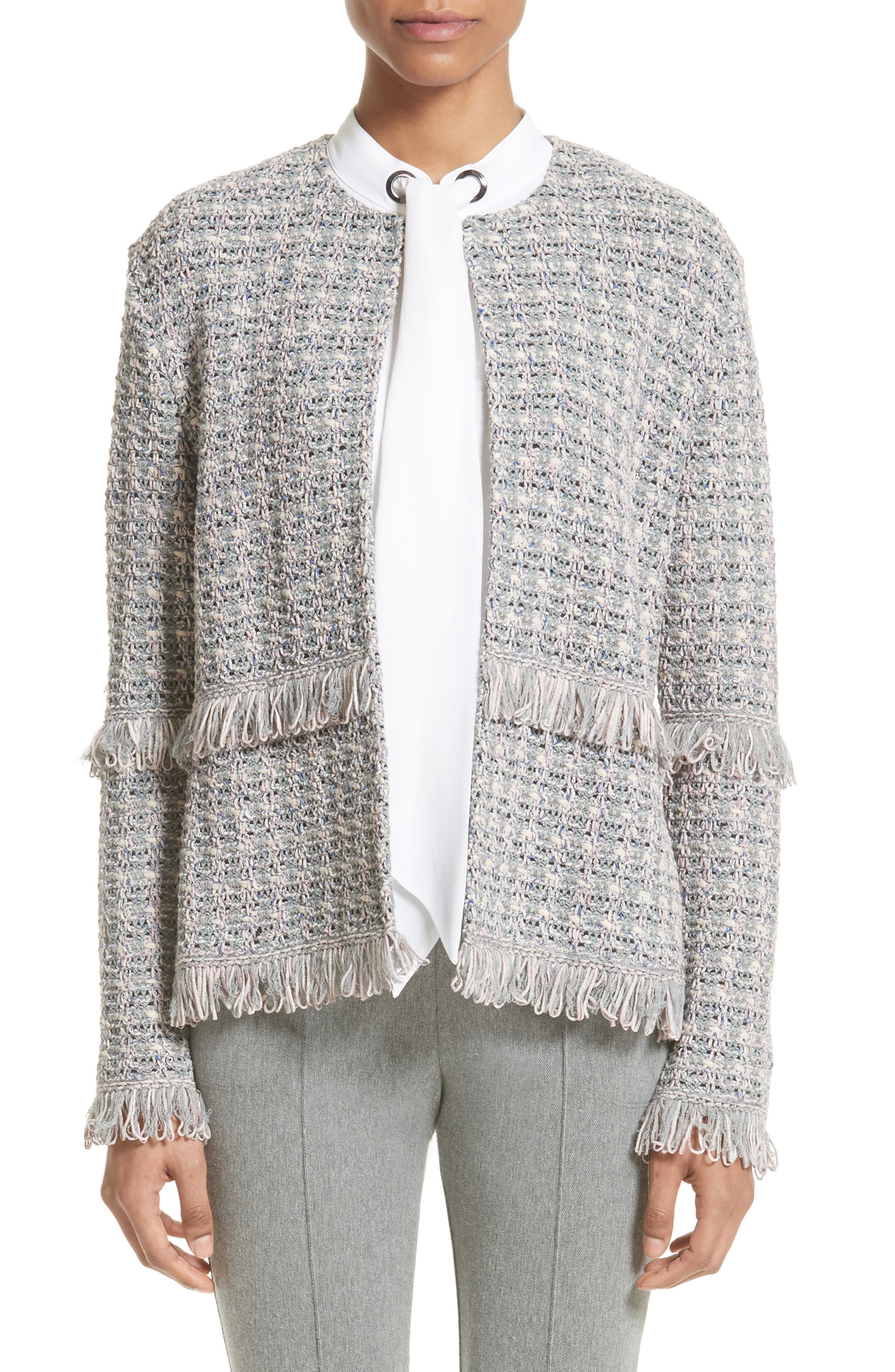 St. John Collection Textural Powder Tweed Jacket