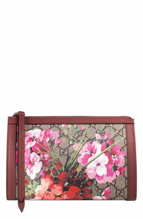 Gucci Small GG Blooms Canvas Cosmetics Case