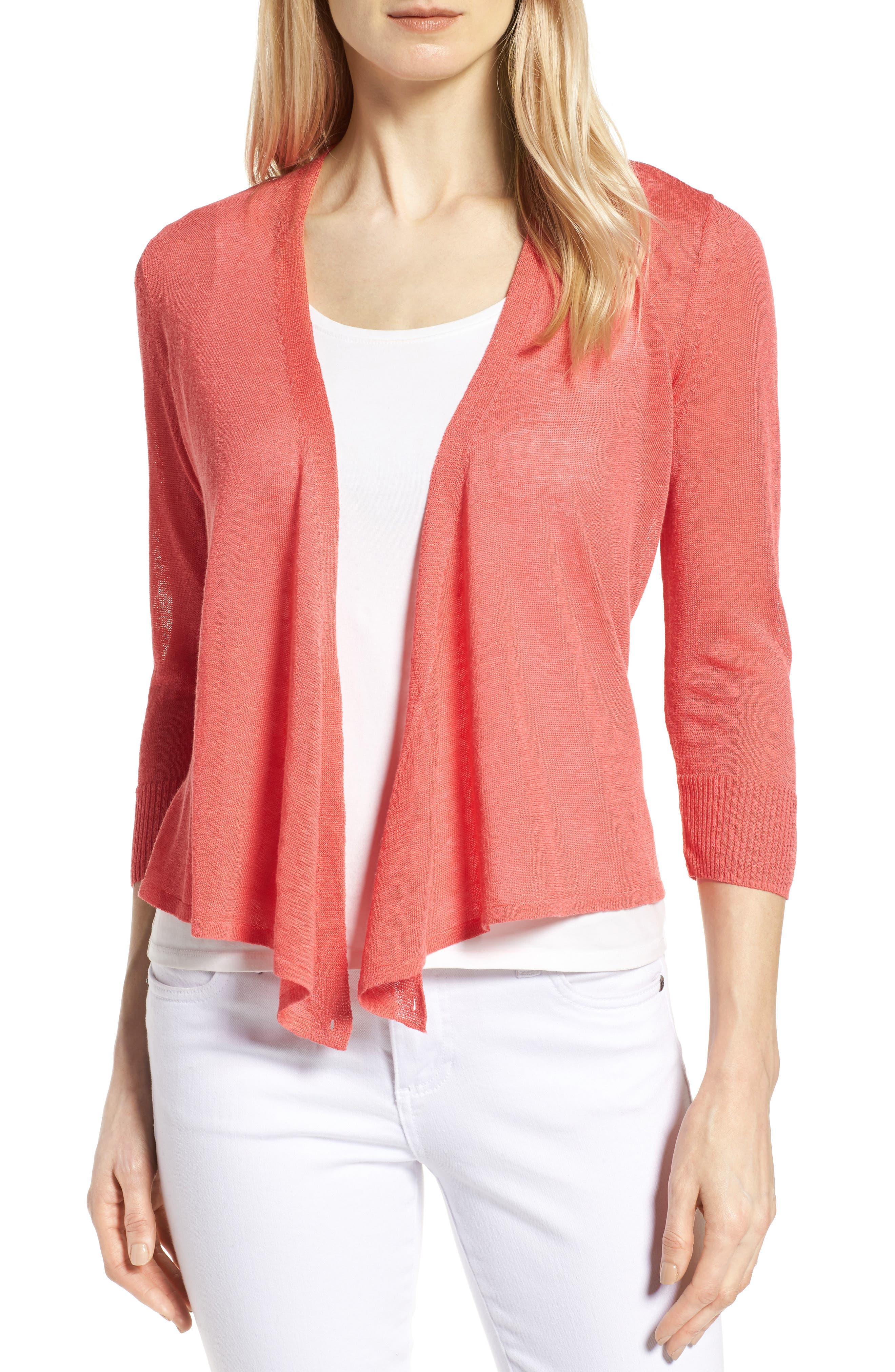 NIC+ZOE '4-Way' Convertible Three Quarter Sleeve Cardigan