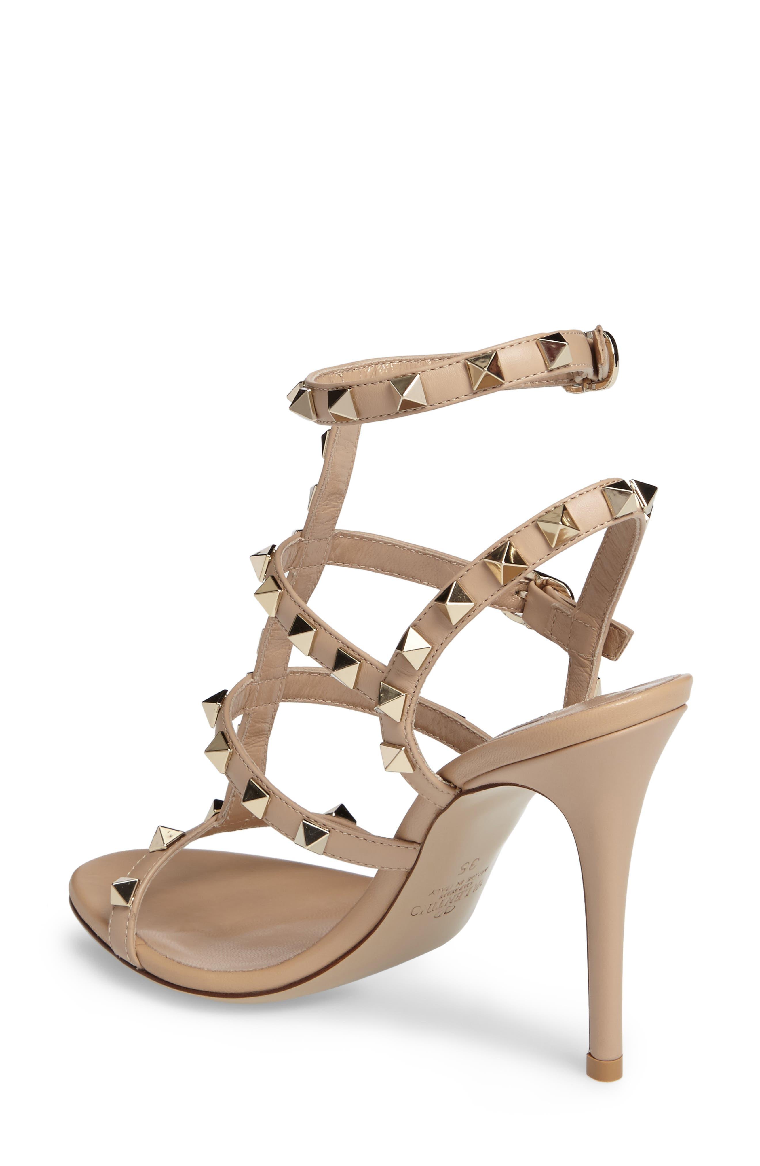 Alternate Image 2  - Valentino 'Rockstud' Ankle Strap Sandal (Women)