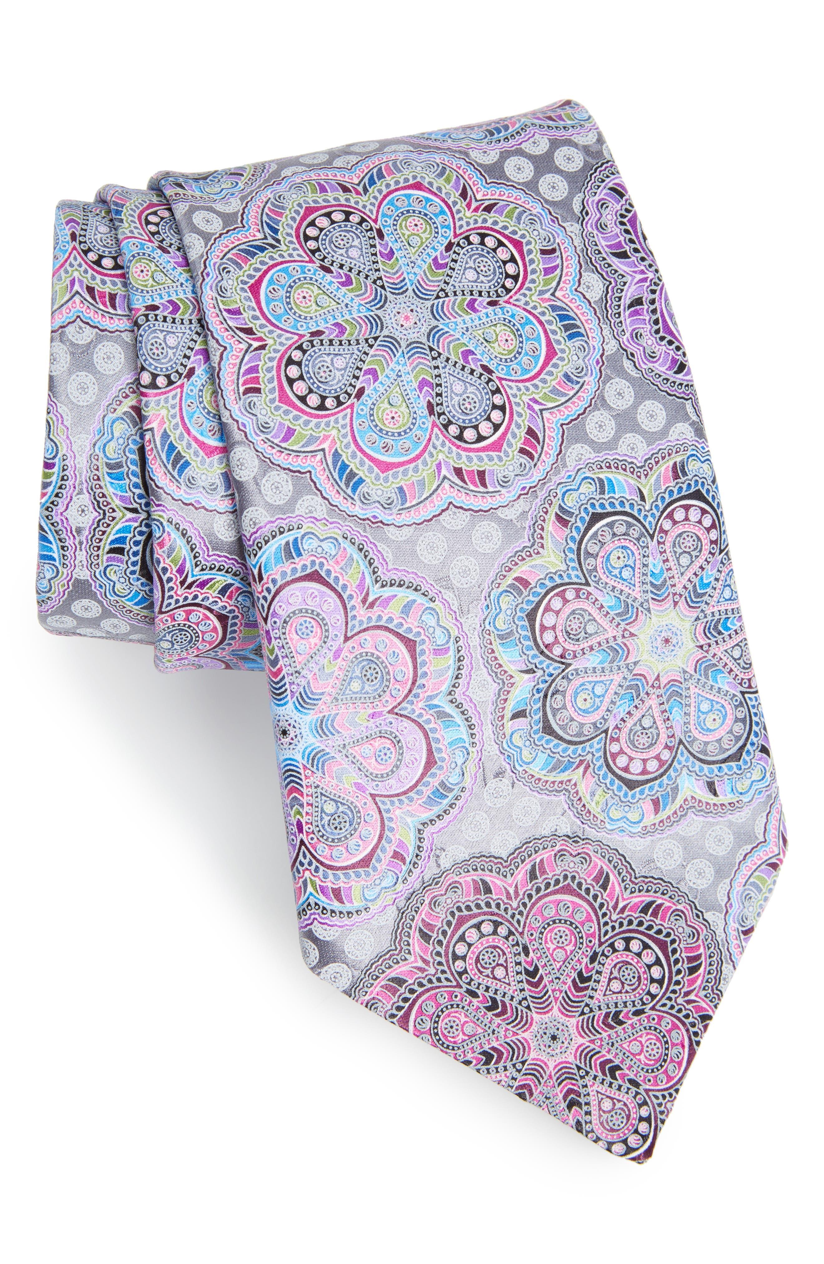 Alternate Image 1 Selected - Ermenegildo Zegna Medallion Woven Silk Tie