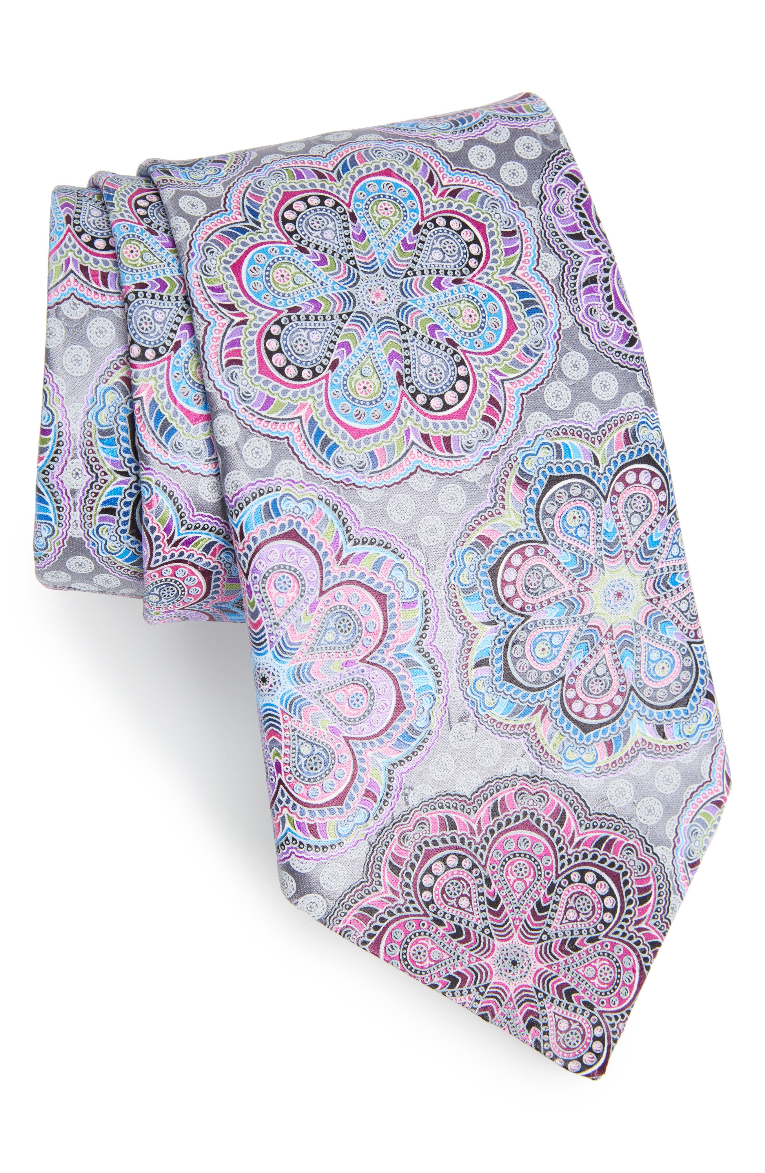 Main Image - Ermenegildo Zegna Medallion Woven Silk Tie