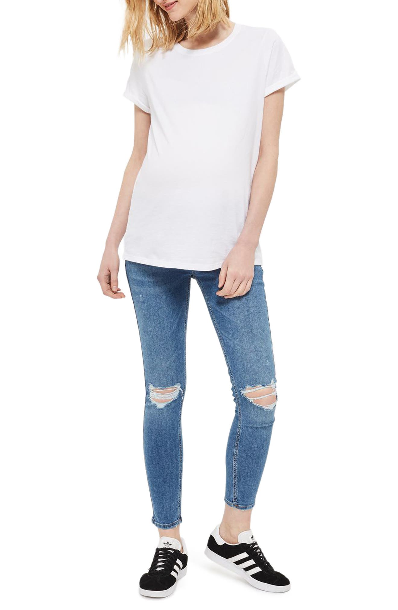 Topshop Jamie Rip Maternity Jeans