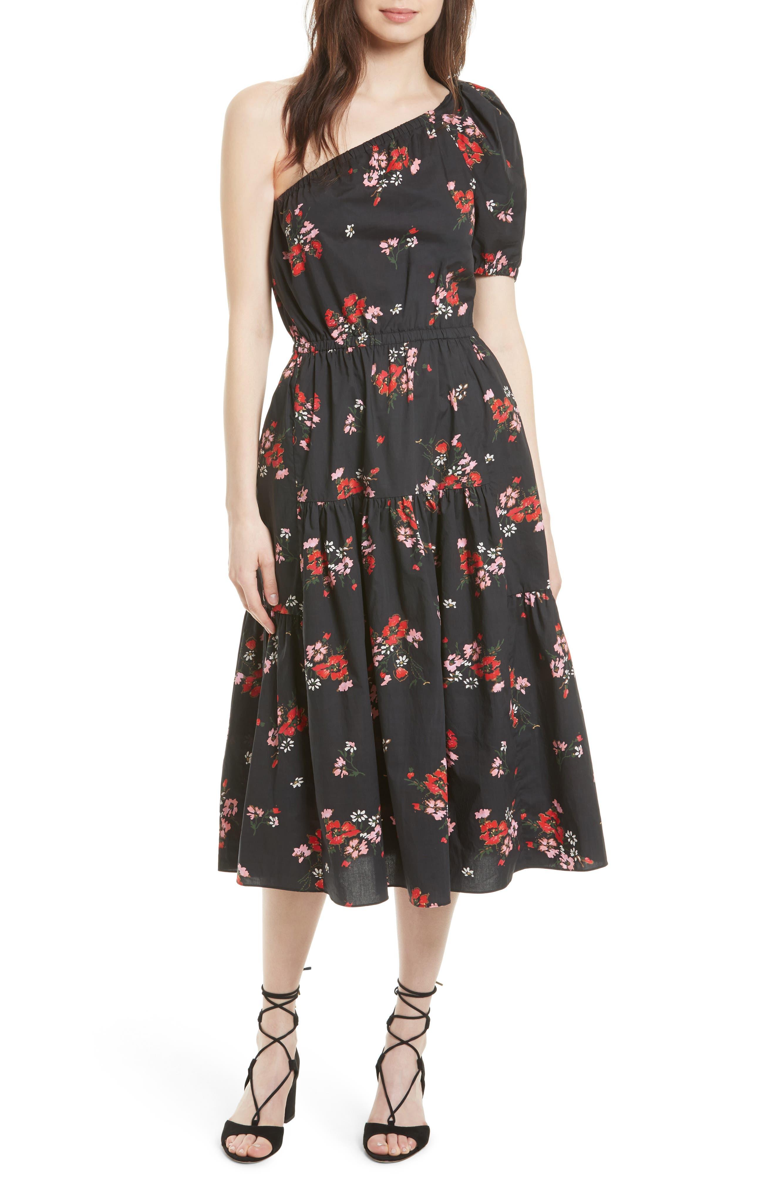 Rebecca Taylor Marguerite One-Shoulder Dress